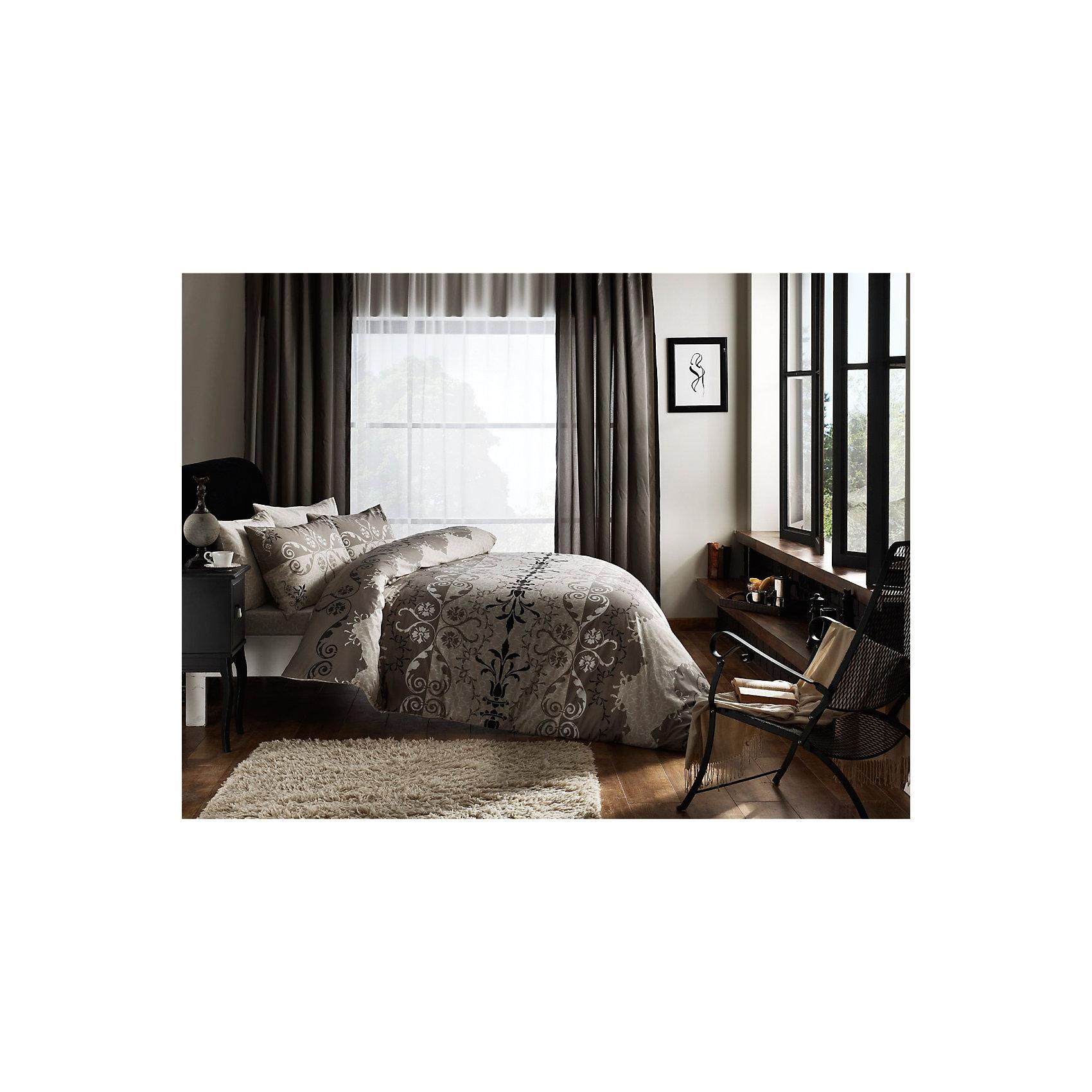 Постельное белье семейный Elenor, Ranforce, TAC, коричневыйДомашний текстиль<br>Характеристики товара: <br><br>• пододеяльник 2шт.(160х220см), наволочка 2шт.(70х70см), простынь (240х260см);<br>• общий размер:  семейный;<br>• материал: ранфорс (100% хлопок);<br>• цвет: коричневый;<br>• страна бренда: Турция;<br>• страна производитель: Турция.<br><br>Это постельное бельё от турецкого бренда TAC (ТАЧ) отлично впишется в интерьер. Несмотря на плотность ткани, она состоит из мельчайших волокон, что придаёт мягкость и воздушность изделию. Все материалы, которые входят в состав этого комплекта, гипоаллергенны и не вызывают неприятных ощущений.<br><br>Постельное бельё не боится воды, так как пропускает через себя около 20% влаги и выводит наружу, поэтому её очень легко сушить. Такие материалы не электризуются, а наоборот способствуют улучшению сна и хорошо пропускают воздух. <br><br>Такой комплект очень устойчив к частым стиркам, его рекомендуется стирать обычным порошком. Ткань отличается особой износоустойчивостью и прочностью.<br><br>Постельное белье Elenor (Эленор) можно купить в нашем интернет-магазине.<br><br>Ширина мм: 270<br>Глубина мм: 80<br>Высота мм: 370<br>Вес г: 3500<br>Возраст от месяцев: 216<br>Возраст до месяцев: 1188<br>Пол: Унисекс<br>Возраст: Детский<br>SKU: 6849261