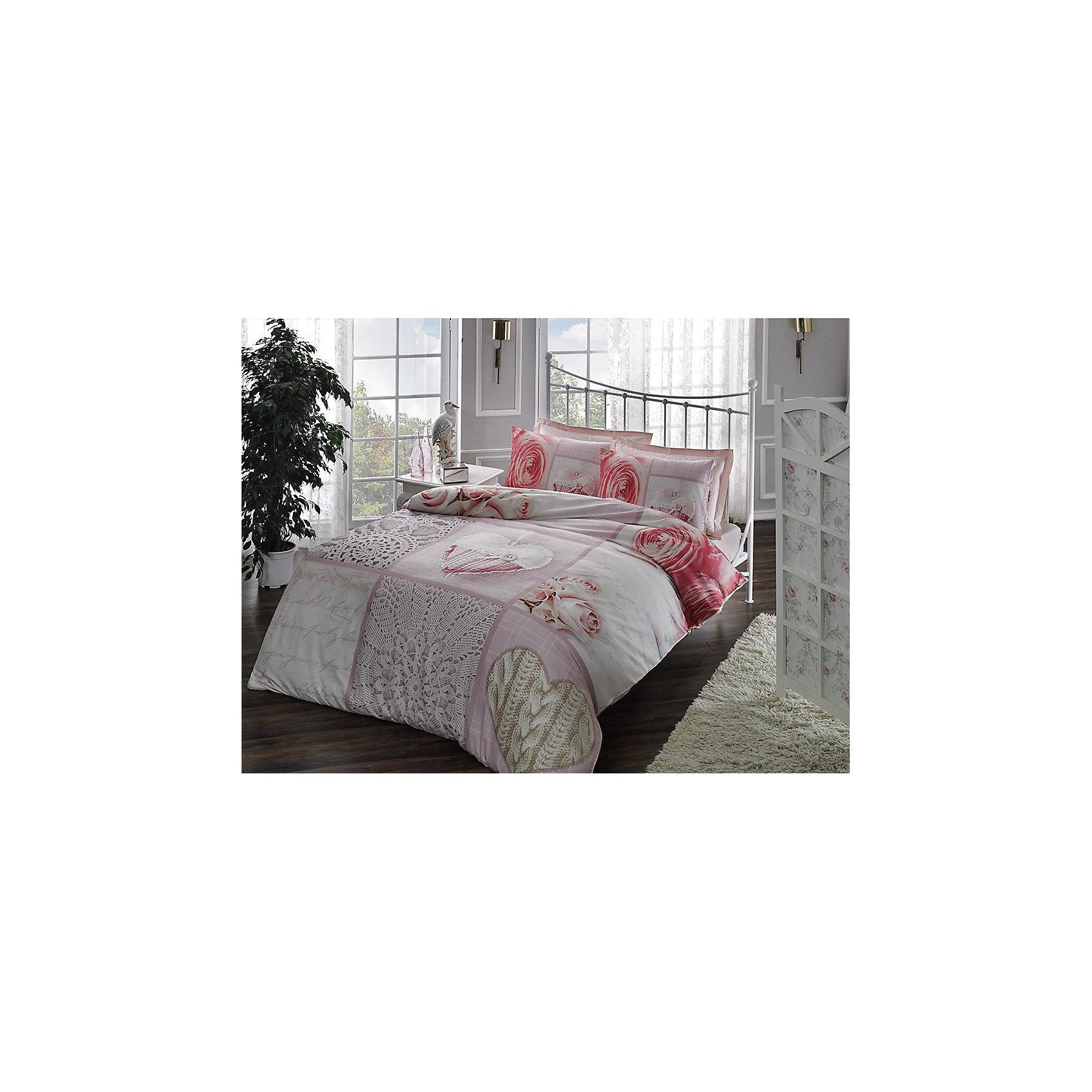 Постельное белье 2 сп Rosebud V01-PUDRA, 3D Saten, TAC, чайная розаДомашний текстиль<br>Характеристики товара: <br><br>• комплектация: пододеяльник (200х220см), наволочка 2шт. (50х70см), наволочка с валаном 2шт. (50х70см), простынь ( 240х260см);<br>• общий размер: 2-спальный;<br>• материал: хлопковый сатин (100% хлопок);<br>• цвет: чайная роза;<br>• страна бренда: Турция;<br>• страна производитель: Турция.<br><br>Это постельное бельё от турецкого бренда TAC (ТАЧ) отлично впишется в интерьер. Несмотря на плотность ткани, она состоит из мельчайших волокон, что придаёт мягкость и воздушность изделию. Все материалы, которые входят в состав этого комплекта, гипоаллергенны и не вызывают неприятных ощущений. <br><br>Благодаря сильно скрученным нитям в плотной ткани материал становится гладким и немного блестящим. Такие материалы не электризуются, а наоборот способствуют улучшению сна и хорошо пропускают воздух. <br><br>Такой комплект можно смело стирать, сатин хорошо сохраняет яркость красок, даже после частых стирок рисунок не выцветает и не покрывается катышками. Рекомендуется стирать обычным порошком. <br><br>Постельное белье Rosebud (Роусбад) можно купить в нашем интернет-магазине.<br><br>Ширина мм: 370<br>Глубина мм: 70<br>Высота мм: 370<br>Вес г: 3300<br>Возраст от месяцев: 216<br>Возраст до месяцев: 1188<br>Пол: Унисекс<br>Возраст: Детский<br>SKU: 6849293