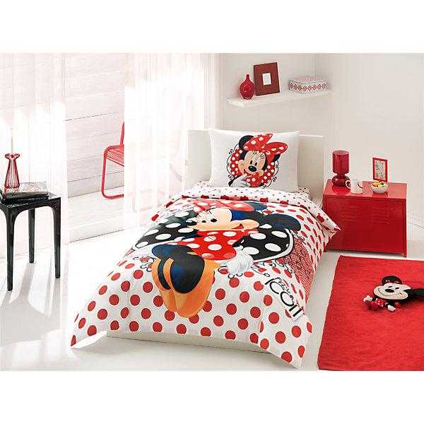 Постельное белье 3 пред. Minnie Fashion Icon, Ranforce/Disney, TACДетское постельное бельё<br>Характеристики товара: <br><br>• комплектация: пододеяльник (160х220см), наволочка (50х70см), простынь (180х200см);<br>• общий размер: 1.5-спальный;<br>• материал: ранфорс (100% хлопок);<br>• цвет: белый, красный, чёрный;<br>• страна бренда: Турция;<br>• страна производитель: Турция.<br><br>Это постельное бельё от турецкого бренда TAC (ТАЧ) отлично подойдёт маленькой девочке, мечтающей о собственном волшебном мире. Несмотря на плотность ткани, она состоит из мельчайших волокон, что придаёт мягкость и воздушность изделию. Все материалы, которые входят в состав этого комплекта, гипоаллергенны и не вызывают неприятных ощущений. <br><br>Постельное бельё не боится воды, так как пропускает через себя около 20% влаги и выводит наружу, поэтому её очень легко сушить. Кроме того, контроль влаги поддерживает температурный баланс тела. Благодаря специальному составу материал не электризуется и способствует улучшению сна ребёнка.<br><br> Такой комплект очень устойчив к частым стиркам, его рекомендуется стирать обычным детским мылом без отдушек.<br> Сказочный мир с персонажем «Мини Маус» в главной роли будет всегда создавать уют и радовать ребенка.<br><br>Постельное белье Minnie Fashion Icon (Минни Фэшн Айкон) можно купить в нашем интернет-магазине.<br><br>Ширина мм: 350<br>Глубина мм: 150<br>Высота мм: 150<br>Вес г: 1300<br>Возраст от месяцев: 36<br>Возраст до месяцев: 144<br>Пол: Женский<br>Возраст: Детский<br>SKU: 6849295