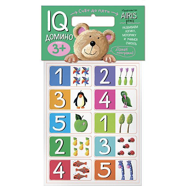 Домино Счёт до 5Домино<br>Характеристики товара:<br><br>• возраст: от 3 лет<br>• комплектация: 20 объёмных карточек с цифрами и цветными рисунками<br>• авторы: Куликова Е. Н., Фролова Т. Ю.<br>• производитель: Айрис-пресс<br>• серия: IQ игры<br>• материал: EVA<br>• упаковка: пакет с хедером.<br>• размер упаковки: 22,5х17,5х2 см.<br>• вес: 66 гр.<br><br>Домино «Счёт до 5» – это увлекательная настольная игра для быстрого обучения счёту, развития логического мышления и моторики.<br><br>Набор состоит из 20 объёмных карточек с цифрами и цветными рисунками. Карточки сделаны из мягкого, прочного и безопасного материала EVA. Они удобно ложатся в детскую руку, в отличие от картонных прекрасно сохраняют форму и отлично подходят для настольных познавательных игр.<br><br>Цель игры - правильно разместить карточки друг за другом. Ребёнок может играть один или привлечь к игре несколько участников. Победителем становится тот, кто первым разложит все свои карточки.<br><br>На упаковке набора даётся описание, как играть с мягкими карточками-фишками.<br><br>Домино Счёт до 5 можно купить в нашем интернет-магазине.<br>Ширина мм: 20; Глубина мм: 175; Высота мм: 225; Вес г: 66; Возраст от месяцев: 36; Возраст до месяцев: 60; Пол: Унисекс; Возраст: Детский; SKU: 6849518;