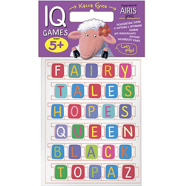 Касса букв ENGLISH с игровыми полямиИностранный язык<br>Характеристики товара:<br><br>• возраст: от 5 лет<br>• комплектация:  касса букв (буквы выполнены в виде пазлов), 3 с заданиями-игровыми полями<br>• производитель: Айрис-пресс<br>• серия: IQ игры<br>• материал: EVA, картон<br>• размер букв: 3х3 см.<br>• упаковка: пакет с хедером.<br>• размер упаковки: 22,5х17,5х2 см.<br>• вес: 91 гр.<br><br>«Касса букв» с игровыми полями предназначена для обучения детей английскому языку.<br><br>С помощью набора можно проводить всевозможные развивающие игры, в ходе которых ребенок познакомится с  буквами английского языка, научится узнавать и запоминать графический образ буквы, составлять из букв слова, начнет осваивать первые навыки чтения на английском языке.<br><br>Для активизации и закрепления знаний в наборе приложены рабочие листы - игровые поля, на которых дети сами могут выполнить увлекательные задания.<br><br>Кассу букв ENGLISH с игровыми полями можно купить в нашем интернет-магазине.<br><br>Ширина мм: 20<br>Глубина мм: 175<br>Высота мм: 225<br>Вес г: 91<br>Возраст от месяцев: 60<br>Возраст до месяцев: 84<br>Пол: Унисекс<br>Возраст: Детский<br>SKU: 6849520