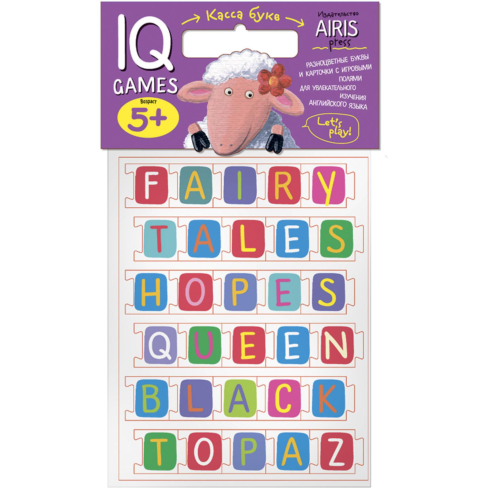 Касса букв ENGLISH с игровыми полямиКасса букв<br>Касса букв с игровыми полями предназначена для обучения детей английскому языку. С помощью набора можно проводить всевозможные развивающие игры, в ходе которых ребенок познакомится с  буквами английского языка, научится узнавать и запоминать графический образ буквы, составлять из букв слова, начнет осваивать первые навыки чтения на английском языке. Для активизации и закрепления знаний в наборе приложены рабочие листы - игровые поля, на которых дети сами могут выполнить увлекательные задания.<br><br>Ширина мм: 20<br>Глубина мм: 175<br>Высота мм: 225<br>Вес г: 91<br>Возраст от месяцев: 60<br>Возраст до месяцев: 84<br>Пол: Унисекс<br>Возраст: Детский<br>SKU: 6849520