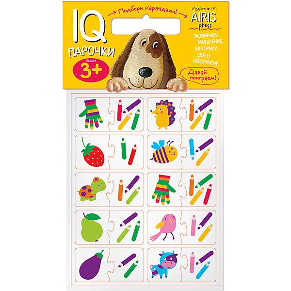 Парочки Подбери карандашиКниги для развития мышления<br>Характеристики товара:<br><br>• возраст: от 3 лет<br>• комплектация: 40 объёмных карточек, на которых изображены предметы и карандаши<br>• автор: Куликова Е.Н.<br>• производитель: Айрис-пресс<br>• серия: IQ игры<br>• материал: EVA<br>• упаковка: пакет с хедером<br>• размер упаковки: 22,5х17,5х2 см.<br>• вес: 66 гр.<br><br>Парочки «Подбери карандаши!» – это увлекательная настольная игра для тренировки способности ребёнка к восприятию цвета и цветовых сочетаний, развития воображения, логики и моторики.<br><br>Набор состоит из 40 объёмных карточек, на которых изображены предметы и карандаши. Карточки сделаны из мягкого, прочного и безопасного материала EVA. Они удобно ложатся в детскую ручку и отлично подходят для познавательных игр.<br><br>Цель игры: составить пару  «предмет — карандаши, которыми он нарисован». Карточки снабжены пазловыми замками для того, чтобы ребёнок мог самостоятельно оценить правильность выполнения заданий.<br><br>На упаковке набора даётся описание, как играть с мягкими карточками.<br><br>Игру Парочки Подбери карандаши можно купить в нашем интернет-магазине.<br><br>Ширина мм: 20<br>Глубина мм: 175<br>Высота мм: 225<br>Вес г: 66<br>Возраст от месяцев: 36<br>Возраст до месяцев: 48<br>Пол: Унисекс<br>Возраст: Детский<br>SKU: 6849527