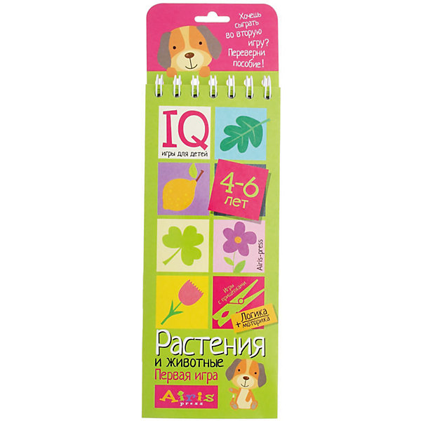 Игры с прищепками Растения и животныеКниги для развития мышления<br>Характеристики товара:<br><br>• возраст: от 4 лет<br>• комплектация: блокнот на пружине, состоящий из 30 картонных карточек; 8 разноцветных прищепок.<br>• производитель: Айрис-пресс<br>• серия: IQ игры<br>• иллюстрации: цветные<br>• размер блокнота: 23,5х9,5х1,5 см.<br>• размер прищепки: 3,5х0,5х1 см.<br><br>«Растения и животные» – это развивающий игровой комплект для ознакомления ребенка с животным и растительным миром.<br><br>Комплект представляет собой небольшой блокнот на пружине, состоящий из 30 картонных карточек, и 8 разноцветных прищепок.<br><br>На красочных станицах блокнота в два столбика расположены карточки с рисунками. У каждой карточки есть своя логическая пара. Задача ребенка – найти парные картинки и прикрепить к ним прищепки одного цвета, располагая их в округлых прорезях с боков карточек. Когда все задания на страничке выполнены, ребенок может самостоятельно проверить правильность решения. Для этого нужно перевернуть страницу и провести пальчиком по лабиринту на обратной стороне. Если линия соединяет прищепки одного цвета, значит задание выполнено, правильно.<br><br>Выполняя задания на карточках-страничках, ребёнок изучает взаимосвязи живых организмов в природе, учится анализировать, сравнивать, искать логические связи. Прикрепляя прищепки и проходя лабиринты, он развивает моторику и координацию движений.<br><br>Простота и удобство комплекта позволяют использовать его в детском саду, дома и на отдыхе.<br><br>Игры с прищепками Растения и животные можно купить в нашем интернет-магазине.<br>Ширина мм: 15; Глубина мм: 95; Высота мм: 240; Вес г: 155; Возраст от месяцев: 48; Возраст до месяцев: 72; Пол: Унисекс; Возраст: Детский; SKU: 6849564;