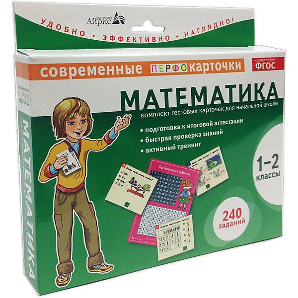 Пособие Математика, 1-2 кл., Куликова Е.Н.Пособия для обучения счёту<br>Характеристики товара:<br><br>• возраст: от 6 лет<br>• комплектация: карточки с заданиями; проверочная таблица, памятка для родителей.<br>• автор: Куликова Е.Н.<br>• производитель: Айрис-пресс<br>• серия: Комплекты тестовых карточек<br>• иллюстрации: цветные<br>• материал: картон<br>• упаковка: картонная коробка<br>• размер упаковки: 18,5х20х3 см.<br>• вес: 338 гр.<br><br>Комплект тестовых карточек – это развивающее пособие, рекомендованное для проверки и закрепления учебного материала 1-2 классов по математике.<br><br>В комплект входят: карточки с заданиями (240 заданий), проверочная таблица и памятка для родителей. Задания сгруппированы по ключевым разделам математики: числа (44 задания); величины (36 заданий); арифметические действия (80 заданий); пространственные отношения, геометрические фигуры, геометрические величины (52 задания); работа с информацией (28 заданий).<br><br>Пособие очень удобно в использовании. Краткая инструкция расположена непосредственно на коробке. Важно, что ребёнок, соединив номер на карточке с номером в проверочной таблице, сам может проверить - верный ли ответ.<br><br>Занятия с карточками способствуют развитию наглядно-образного мышления, внимательности, наблюдательности, учат анализировать и логически объяснять решение.<br><br>Оптимальная подача учебного материала, оригинальный дизайн, яркие иллюстрации и краткие задания сделают подготовку итоговому тестированию с данным пособием лёгкой и интересной.<br><br>Пособие Математика, 1-2 кл., Куликова Е.Н. можно купить в нашем интернет-магазине.<br>Ширина мм: 28; Глубина мм: 200; Высота мм: 185; Вес г: 345; Возраст от месяцев: 84; Возраст до месяцев: 108; Пол: Унисекс; Возраст: Детский; SKU: 6849630;