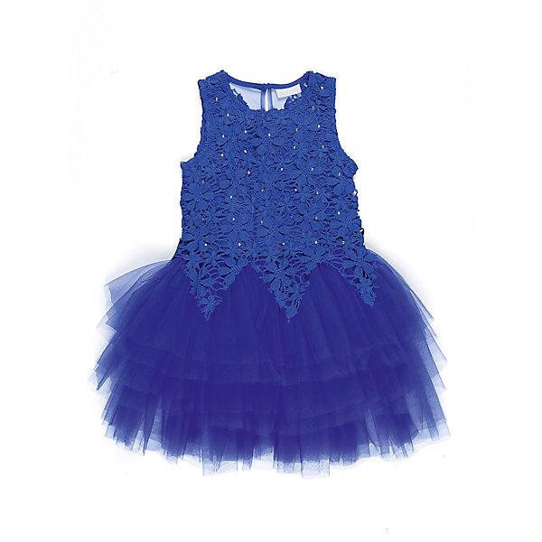 Платье для девочки Sweet BerryОдежда<br>Характеристики товара:<br><br>• цвет: синий<br>• сезон: круглый год<br>• состав: верх: 100% полиэстер, подкладка: 100% хлопок<br>• стиль: праздник<br>• короткий рукав<br>• особенности: нарядное, пышное<br>• страна бренда: Россия<br>• страна производитель: Китай<br><br>Платье текстильное для девочки, комфортно и приятно прилегает к телу. <br><br>Верх обшит кружевным полотном, спускающимся на юбку красивыми треугольниками. <br><br>Юбка - пышная, многоярусная, создающая нарядный вид. <br><br> Ярко-синее нарядное и стильное платье - идеальный вариант для детских праздников.<br><br>Платье для девочки Sweet Berry можно купить в нашем интернет-магазине.<br><br>Ширина мм: 236<br>Глубина мм: 16<br>Высота мм: 184<br>Вес г: 177<br>Цвет: синий<br>Возраст от месяцев: 24<br>Возраст до месяцев: 36<br>Пол: Женский<br>Возраст: Детский<br>Размер: 98,110,104,140,128,116<br>SKU: 6849861