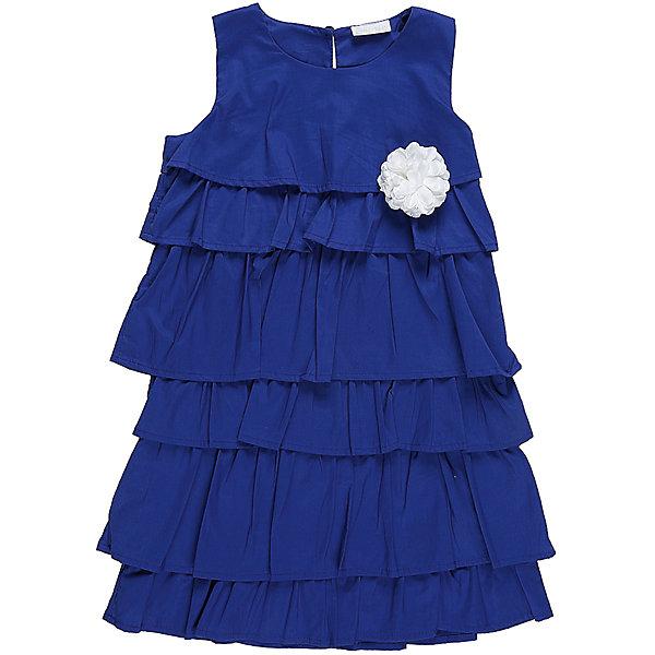 Платье для девочки Sweet BerryПлатья и сарафаны<br>Характеристики товара:<br><br>• цвет: синий<br>• сезон: круглый год<br>• состав: 100% хлопок<br>• стиль: праздник<br>• короткий рукав<br>• особенности: нарядное<br>• страна бренда: Россия<br>• страна производитель: Китай<br><br>Платье для девочки выполнено из хлопка. <br><br>Широкие оборки пришиты ярусами, расширяются к низу. <br><br>Без рукавов, на спинке - молния. <br><br>Ярко-синее платье украшает роза белого цвета из ткани. <br><br>Девочка в платье такого цвета и фасона выглядит стильно и модно. <br><br>В нем можно ходить в гости или на праздники.<br><br>Платье для девочки Sweet Berry можно купить в нашем интернет-магазине.<br>Ширина мм: 236; Глубина мм: 16; Высота мм: 184; Вес г: 177; Цвет: синий; Возраст от месяцев: 48; Возраст до месяцев: 60; Пол: Женский; Возраст: Детский; Размер: 110,104,98,140,128,116; SKU: 6849910;