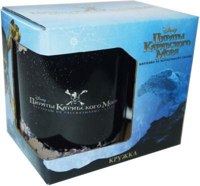 Кружка Пираты Карибского Моря. Капитан Джек Воробей в подарочной упаковке, 350 мл., Disney