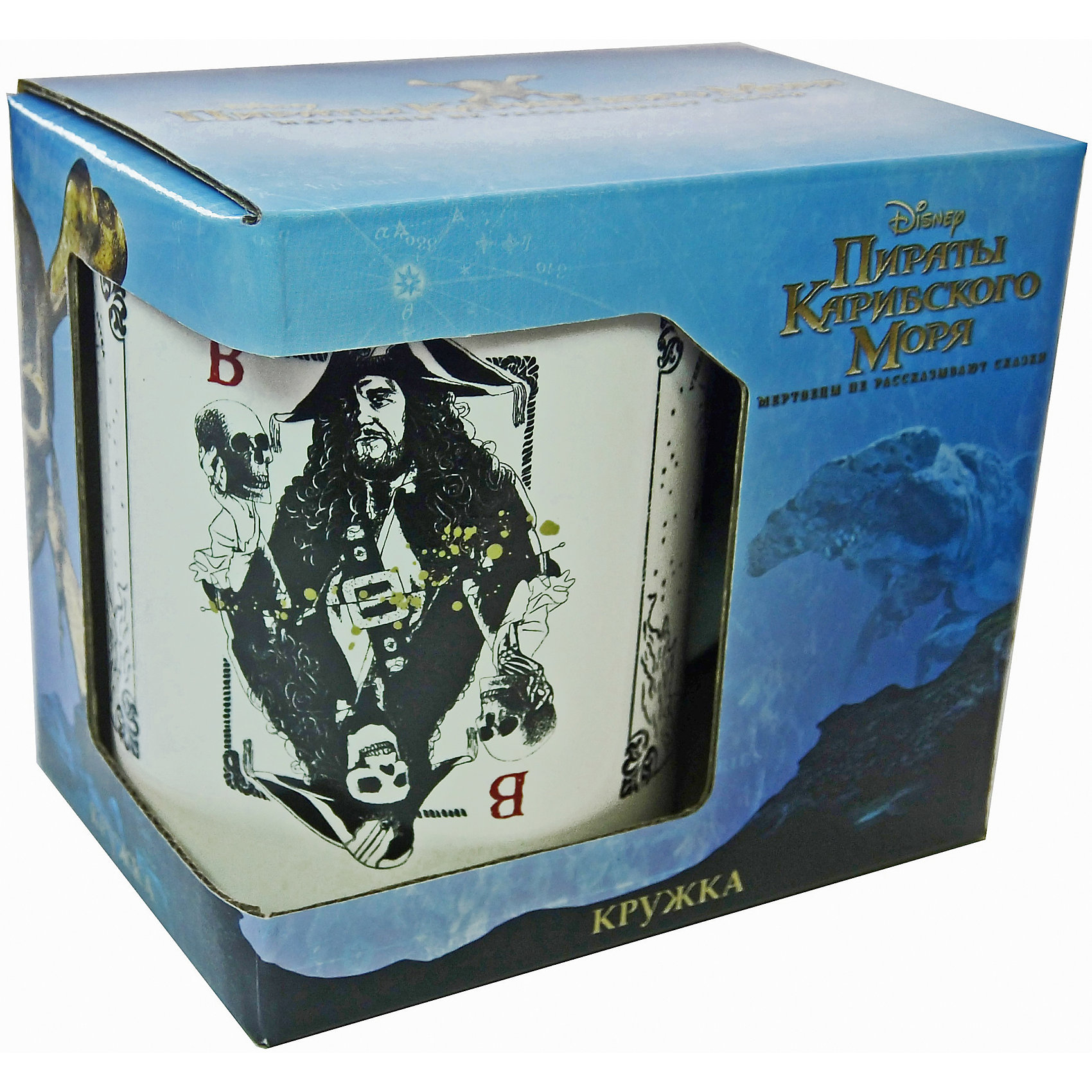 Кружка  Пираты Карибского Моря. Карты в подарочной упаковке, 350 мл., DisneyПосуда<br>Характеристики:<br><br>• Материал: керамика<br>• Тематика рисунка: Пираты Карибского моря<br>• Можно использовать для горячих и холодных напитков<br>• Объем: 350 мл<br>• Упаковка: подарочная картонная коробка<br>• Вес: 360 г <br>• Размеры (Д*Ш*В): 12*8,2*9,5 см<br>• Особенности ухода: можно мыть в посудомоечной машине<br><br>Кружка Пираты Карибского моря. Карты в подарочной упаковке, 350 мл., Disney выполнена в стильном дизайне: на белый корпус нанесено изображение имитирующее игральные карты с героями фильма. Изображение устойчиво к появлению царапин, не выцветает при частом мытье. <br><br>Кружку Пираты Карибского моря. Карты в подарочной упаковке, 350 мл., Disney можно купить в нашем интернет-магазине.<br><br>Ширина мм: 120<br>Глубина мм: 82<br>Высота мм: 95<br>Вес г: 360<br>Возраст от месяцев: 36<br>Возраст до месяцев: 1188<br>Пол: Унисекс<br>Возраст: Детский<br>SKU: 6849940