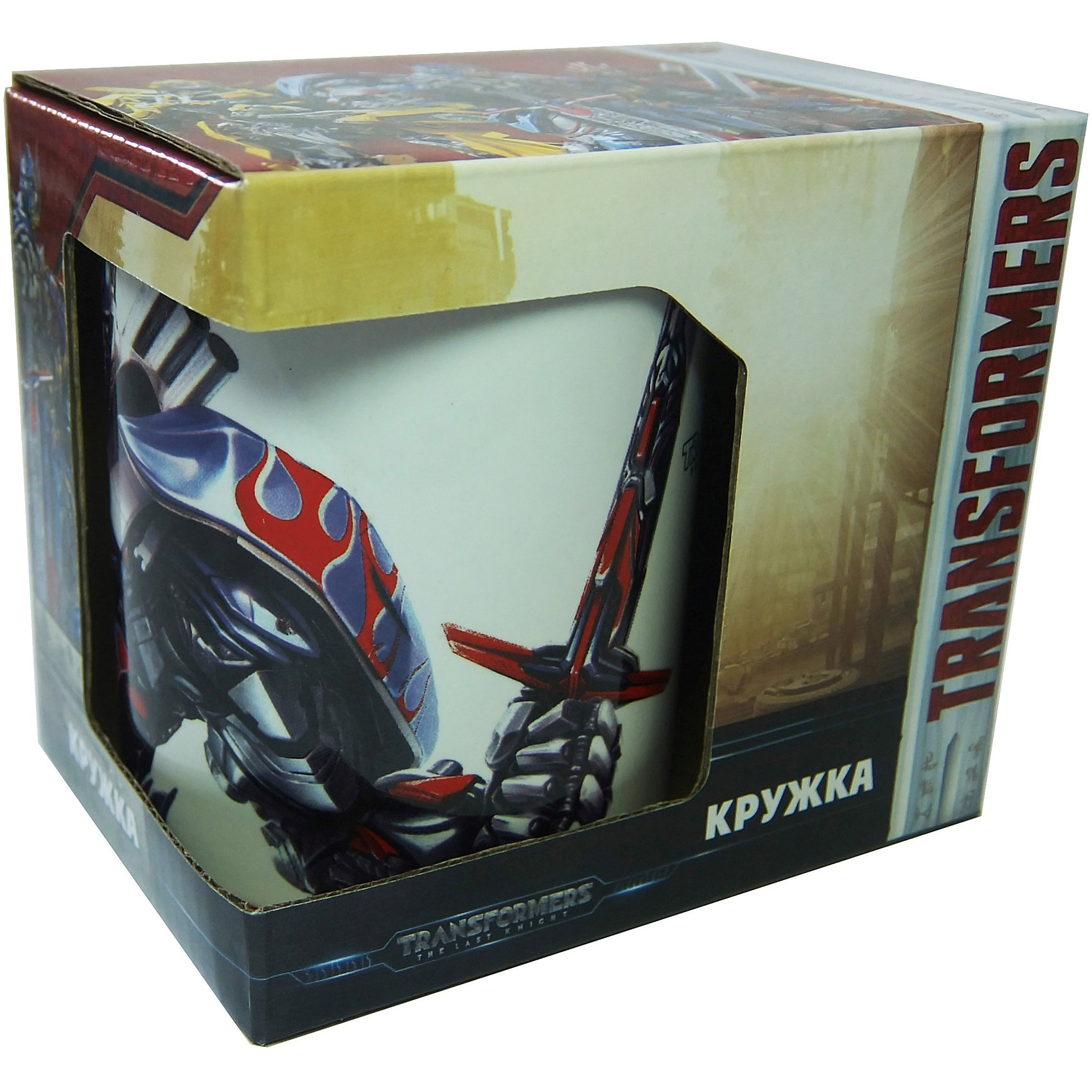Кружка Transformers Последний рыцарь. Оптимус Прайм в подарочной упаковке, 350мл.Посуда<br>Характеристики:<br><br>• Материал: керамика<br>• Тематика рисунка: Трансформеры<br>• Можно использовать для горячих и холодных напитков<br>• Упаковка: подарочная картонная коробка<br>• Объем: 350 мл<br>• Вес: 360 г<br>• Размеры (Д*Ш*В): 12*8,2*9,5 см<br>• Особенности ухода: можно мыть в посудомоечной машине<br><br>Кружка Transformers Последний рыцарь. Оптимус Прайм в подарочной упаковке, 350 мл выполнена в стильном дизайне: на белый корпус нанесено изображение героя популярного мультсериала Трансформеры – Оптимуса Прайма. Изображение детально отражает облик экранного прототипа, устойчиво к появлению царапин, не выцветает при частом мытье. <br><br>Кружку Transformers Последний рыцарь. Оптимус Прайм в подарочной упаковке, 350 мл можно купить в нашем интернет-магазине.<br><br>Ширина мм: 120<br>Глубина мм: 82<br>Высота мм: 95<br>Вес г: 360<br>Возраст от месяцев: 36<br>Возраст до месяцев: 1188<br>Пол: Мужской<br>Возраст: Детский<br>SKU: 6849966
