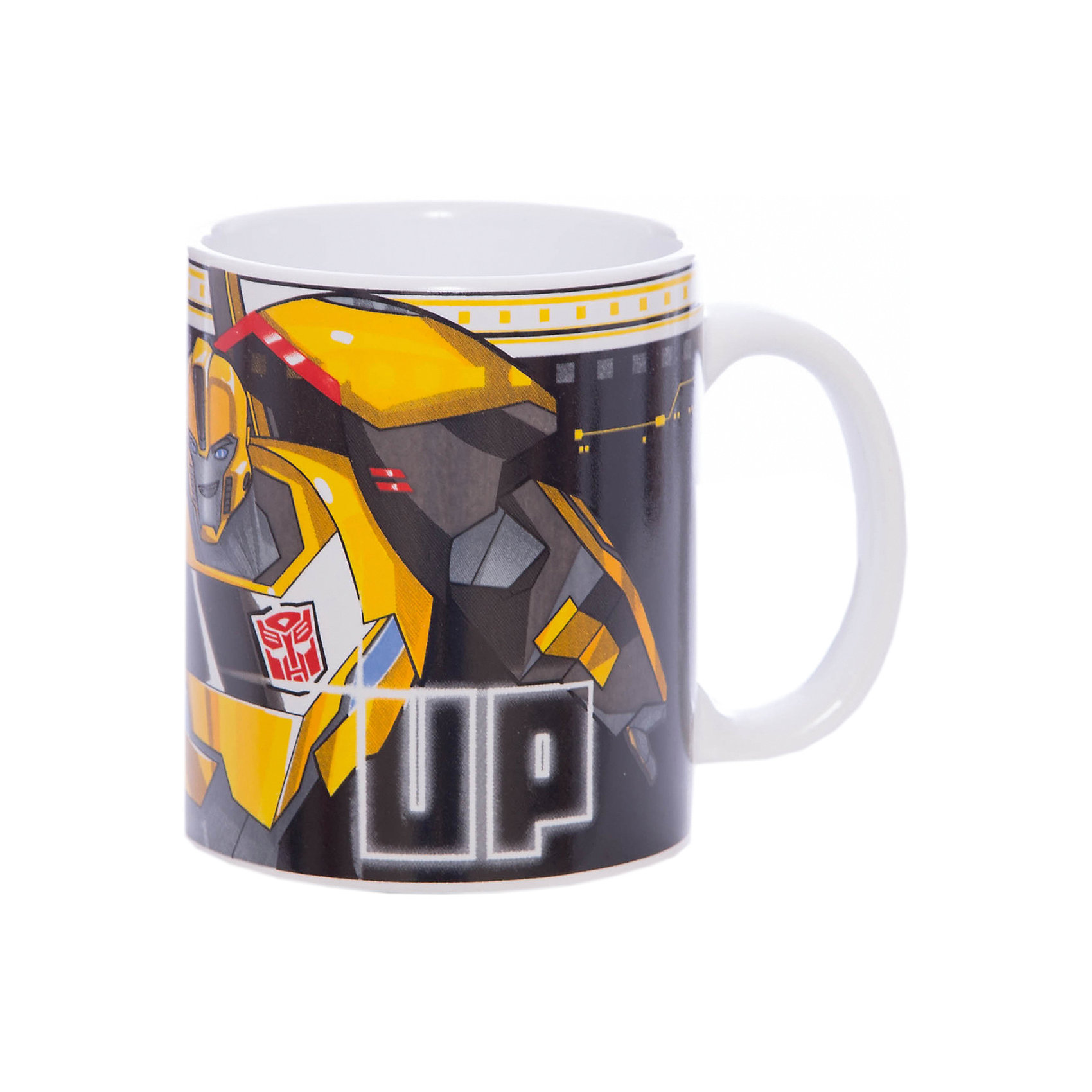 Кружка Transformers Роботы под прикрытием. Team up, 350 мл.Посуда<br>Характеристики:<br><br>• Материал: керамика<br>• Тематика рисунка: Трансформеры<br>• Можно использовать для горячих и холодных напитков<br>• Объем: 350 мл<br>• Вес: 323 г<br>• Размеры (Д*Ш*В): 12*8,2*9,5 см<br>• Особенности ухода: можно мыть в посудомоечной машине<br><br>Кружка Transformers Роботы под прикрытием. Team up, 350 мл выполнена в стильном дизайне: на синий корпус нанесено изображение героев популярного мультсериала Трансформеры. Изображение детально отражает облик экранного прототипа, устойчиво к появлению царапин, не выцветает при частом мытье. <br><br>Кружку Transformers Роботы под прикрытием. Team up, 350 мл можно купить в нашем интернет-магазине.<br><br>Ширина мм: 120<br>Глубина мм: 82<br>Высота мм: 95<br>Вес г: 323<br>Возраст от месяцев: 36<br>Возраст до месяцев: 1188<br>Пол: Мужской<br>Возраст: Детский<br>SKU: 6849969