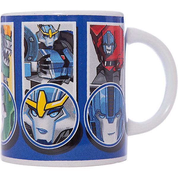 Кружка Transformers Роботы под прикрытием, 240 мл.Детская посуда<br>Характеристики:<br><br>• Материал: керамика<br>• Тематика рисунка: Трансформеры<br>• Можно использовать для горячих и холодных напитков<br>• Объем: 240 мл<br>• Вес: 267 г<br>• Размеры (Д*Ш*В): 12*8,2*9,5 см<br>• Особенности ухода: можно мыть в посудомоечной машине<br><br>Кружка Transformers Роботы под прикрытием, 240 мл выполнена в стильном дизайне: на синий корпус нанесено изображение героев популярного мультсериала Трансформеры. Изображение детально отражает облик экранного прототипа, устойчиво к появлению царапин, не выцветает при частом мытье. <br><br>Кружку Transformers Роботы под прикрытием, 240 мл можно купить в нашем интернет-магазине<br><br>Ширина мм: 120<br>Глубина мм: 82<br>Высота мм: 95<br>Вес г: 267<br>Возраст от месяцев: 36<br>Возраст до месяцев: 1188<br>Пол: Мужской<br>Возраст: Детский<br>SKU: 6849971