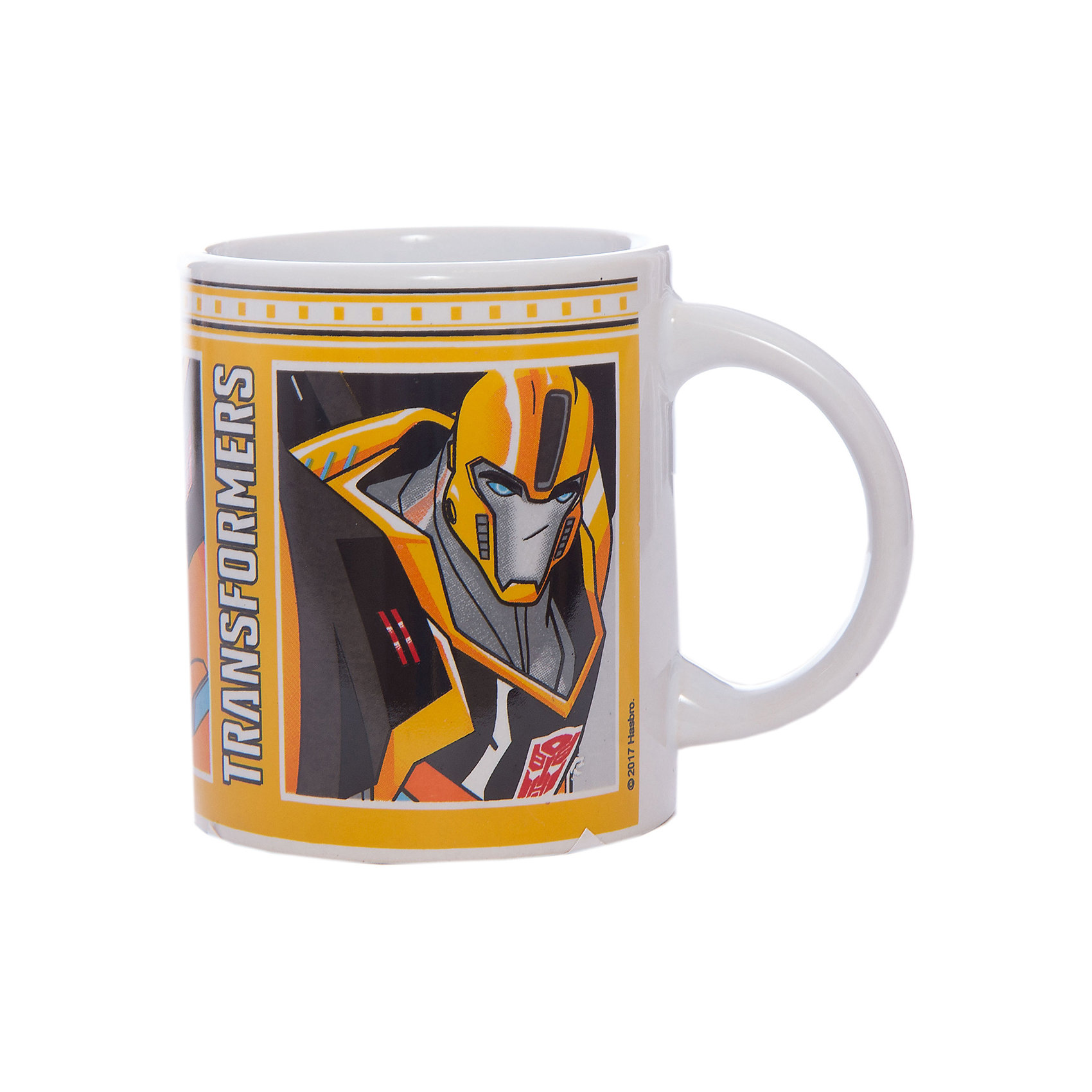 Кружка Transformers Роботы под прикрытием, 240 мл.Детская посуда<br>Характеристики:<br><br>• Материал: керамика<br>• Тематика рисунка: Трансформеры<br>• Можно использовать для горячих и холодных напитков<br>• Объем: 240 мл<br>• Вес: 267 г<br>• Размеры (Д*Ш*В): 12*8,2*9,5 см<br>• Особенности ухода: можно мыть в посудомоечной машине<br><br>Кружка Transformers Роботы под прикрытием, 240 мл выполнена в стильном дизайне: на белый корпус нанесено изображение героев популярного мультсериала Трансформеры. Изображение детально отражает облик экранного прототипа, устойчиво к появлению царапин, не выцветает при частом мытье. <br><br>Кружку Transformers Роботы под прикрытием, 240 мл можно купить в нашем интернет-магазине.<br><br>Ширина мм: 120<br>Глубина мм: 82<br>Высота мм: 95<br>Вес г: 267<br>Возраст от месяцев: 36<br>Возраст до месяцев: 1188<br>Пол: Мужской<br>Возраст: Детский<br>SKU: 6849973