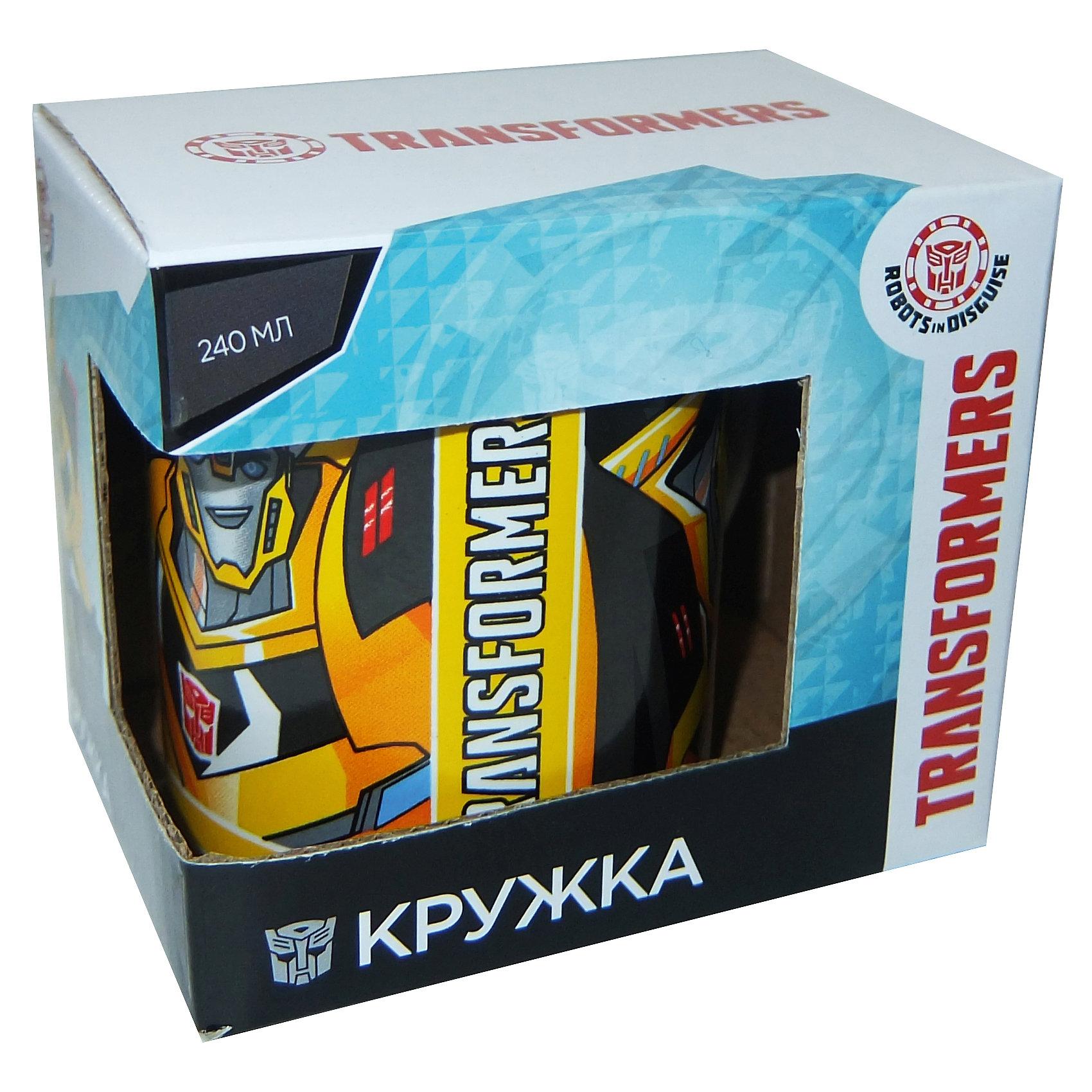 Кружка Transformers Роботы под прикрытием в подарочной упаковке, 240 мл.Посуда<br>Характеристики:<br><br>• Материал: керамика<br>• Тематика рисунка: Трансформеры<br>• Можно использовать для горячих и холодных напитков<br>• Упаковка: подарочная картонная коробка<br>• Объем: 240 мл<br>• Вес: 280 г<br>• Размеры (Д*Ш*В): 12*8,2*9,5 см<br>• Особенности ухода: можно мыть в посудомоечной машине<br><br>Кружка Transformers Роботы под прикрытием в подарочной упаковке, 240 мл выполнена в стильном дизайне: на белый корпус нанесено изображение героев популярного мультсериала Трансформеры. Изображение детально отражает облик экранного прототипа, устойчиво к появлению царапин, не выцветает при частом мытье. <br><br>Кружку Transformers Роботы под прикрытием в подарочной упаковке, 240 мл можно купить в нашем интернет-магазине.<br><br>Ширина мм: 120<br>Глубина мм: 82<br>Высота мм: 95<br>Вес г: 280<br>Возраст от месяцев: 36<br>Возраст до месяцев: 1188<br>Пол: Мужской<br>Возраст: Детский<br>SKU: 6849974