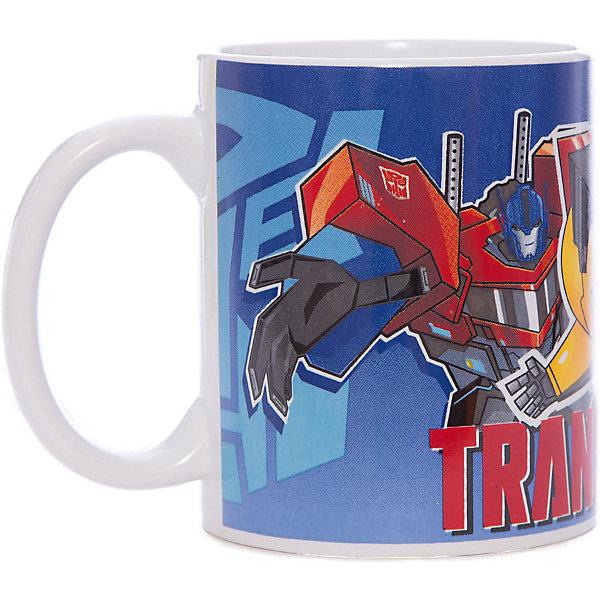 Кружка Transformers Роботы под прикрытием, 350 мл,Детская посуда<br>Характеристики:<br><br>• Материал: керамика<br>• Тематика рисунка: Трансформеры<br>• Можно использовать для горячих и холодных напитков<br>• Объем: 350 мл<br>• Вес: 323 г<br>• Размеры (Д*Ш*В): 12*8,2*9,5 см<br>• Особенности ухода: можно мыть в посудомоечной машине<br><br>Кружка Transformers Роботы под прикрытием, 350 мл выполнена в стильном дизайне: на синий корпус нанесено изображение героев популярного мультсериала Трансформеры. Изображение детально отражает облик экранного прототипа, устойчиво к появлению царапин, не выцветает при частом мытье. <br><br>Кружку Transformers Роботы под прикрытием, 350 мл можно купить в нашем интернет-магазине.<br><br>Ширина мм: 120<br>Глубина мм: 82<br>Высота мм: 95<br>Вес г: 323<br>Возраст от месяцев: 36<br>Возраст до месяцев: 1188<br>Пол: Мужской<br>Возраст: Детский<br>SKU: 6849975