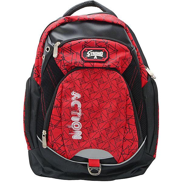 Рюкзак ACTION!Рюкзаки<br>Вес:600грамм<br>Размер: 43 x 30 x 15 см<br>Состав: рюкзак<br>Наличие светоотражающих элементов: да<br>Материал: полиэстер<br>Объем: 22л<br>Спина: мягкая<br>Наличие дополнительных карманов внутри: да<br>Дно выбрать: уплотненное<br>Количество отделений внутри: 1<br>Боковые карманы: есть <br>Замок: молния<br>Вмещает А4: да<br>Подойдет для возраста какого 10-13 лет для роста 146-1162<br>Рюкзак в современном молодежном стиле, с оригинальным принтом, с логотипом ACTION. <br>Одно основное отделение на молнии. Нa лицевой строне имются 2 кармана различного диаметра. По бокам-карманы на молнии. Мягкая спинка. Нa Задних регулируемых снизу лямках и на лицевой стороне имеются светооттражающие полоски безопасности. Верхняя плотная тканевая ручка.<br>Ширина мм: 300; Глубина мм: 150; Высота мм: 430; Вес г: 600; Возраст от месяцев: 72; Возраст до месяцев: 156; Пол: Мужской; Возраст: Детский; SKU: 6850023;