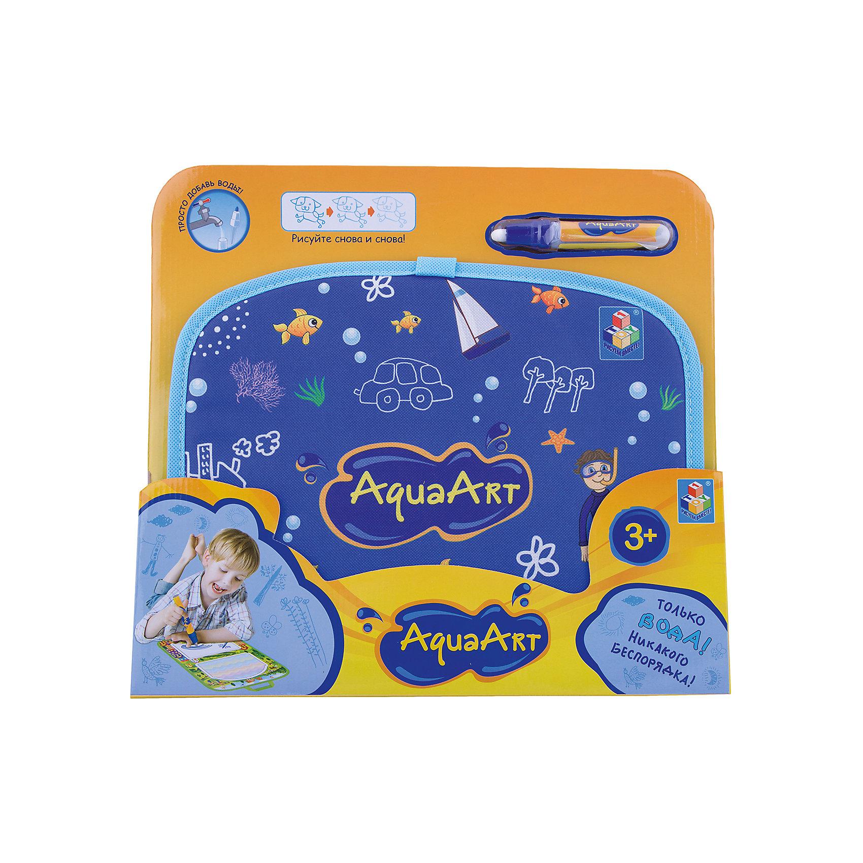 Коврик для рисования, синий, 1toy AquaArtРазвивающие игрушки<br><br><br>Ширина мм: 450<br>Глубина мм: 350<br>Высота мм: 330<br>Вес г: 290<br>Возраст от месяцев: 36<br>Возраст до месяцев: 2147483647<br>Пол: Унисекс<br>Возраст: Детский<br>SKU: 6851267