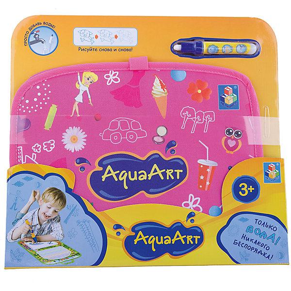 Коврик для рисования, розовый, 1toy AquaArtНаборы для раскрашивания<br>Характеристики товара:<br><br>• возраст: от 3 лет;<br>• материал: пластик, нейлон;<br>• в комплекте: коврик, маркер;<br>• размер коврика: 47х30 см;<br>• размер упаковки: 34х31х2,5 см;<br>• вес упаковки: 290 гр.;<br>• страна производитель: Китай.<br><br>Коврик для рисования 1toy AquaArt розовый — увлекательная игрушка, которая позволит малышам проявить свои творческие способности. Коврик выполнен в виде складывающейся папки с ручками. На нем 2 поверхности для рисования. На одной из них рисование одним цветом, на другой получаются радужные рисунки. Рисование происходит обычной водой. Для этого надо наполнить водой маркер и можно приступать к творчеству. Через некоторое время рисунки высыхают и исчезают. На чистом коврике можно снова рисовать. <br><br>Коврик для рисования 1toy AquaArt розовый можно приобрести в нашем интернет-магазине.<br><br>Ширина мм: 450<br>Глубина мм: 350<br>Высота мм: 330<br>Вес г: 290<br>Возраст от месяцев: 36<br>Возраст до месяцев: 2147483647<br>Пол: Унисекс<br>Возраст: Детский<br>SKU: 6851268