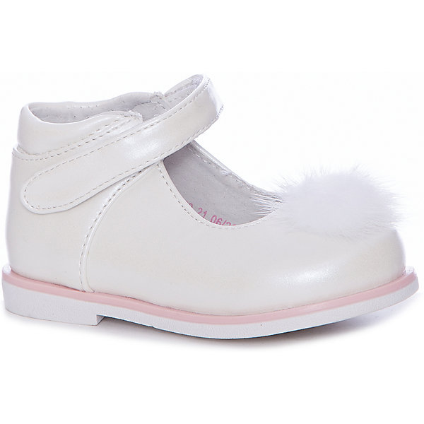 Туфли Mursu для девочкиНарядная обувь<br>Характеристики товара:<br><br>• цвет: белый<br>• материал верха: искусственная кожа<br>• подклад: натуральная кожа<br>• стелька: натуральная кожа<br>• подошва: ТЭП<br>• сезон: круглый год<br>• особенности модели: нарядные<br>• застежка: липучка<br>• анатомические <br>• страна бренда: Финляндия<br>• страна изготовитель: Китай<br><br>Туфли для девочки Mursu - это отличный вариант обуви, которую можно использовать как сменную или надевать в торжественных случаях. Удобная застежка позволяет быстро надеть и снять обувь. <br><br>Качественные материалы обеспечивают комфортные условия для ног. Универсальный цвет подходит под любой наряд.<br>Обувь Мурсу - это качественная финская продукция, которая помогает детям выглядеть модно и чувствовать себя удобно.<br><br>Туфли для девочки Mursu можно купить в нашем интернет-магазине.<br>Ширина мм: 227; Глубина мм: 145; Высота мм: 124; Вес г: 325; Цвет: белый; Возраст от месяцев: 12; Возраст до месяцев: 15; Пол: Женский; Возраст: Детский; Размер: 21,26,25,24,23,22; SKU: 6851566;