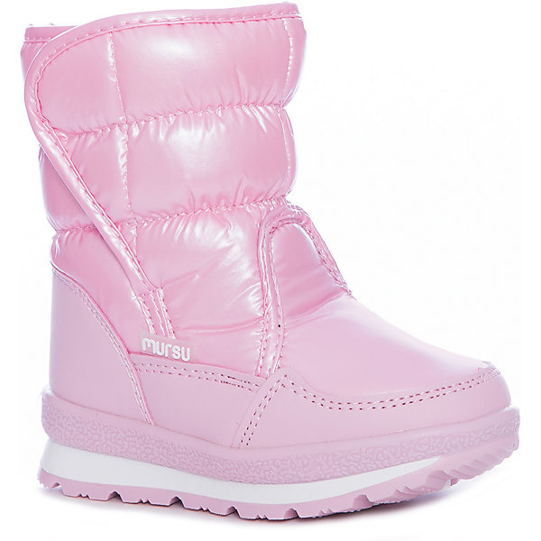 Дутики Mursu для девочкиОбувь<br>Характеристики товара:<br><br>• цвет: розовый<br>• материал верха: искусственная кожа, текстиль<br>• подклад: натуральная шерсть <br>• стелька: натуральная шерсть  <br>• подошва: ТЭП<br>• сезон: зима<br>• температурный режим: от 0 до -20<br>• подошва не скользит<br>• застежка: липучка<br>• анатомические <br>• страна бренда: Финляндия<br>• страна изготовитель: Китай<br><br>Дутики Mursu выполнены в красивом ярком цвете. Высокое голенище помогает предотвратить промокание ног и попадание снега в обувь. Благодаря шерстяной подкладке дутики позволяют сохранить ноги в тепле и обеспечить им комфортный микроклимат.<br><br>Обувь Мурсу - это качественная финская продукция, которая помогает детям выглядеть модно и чувствовать себя удобно.<br><br>Дутики для девочки Mursu можно купить в нашем интернет-магазине.<br>Ширина мм: 257; Глубина мм: 180; Высота мм: 130; Вес г: 420; Цвет: розовый; Возраст от месяцев: 36; Возраст до месяцев: 48; Пол: Женский; Возраст: Детский; Размер: 27,23,22,26,25,24; SKU: 6852599;