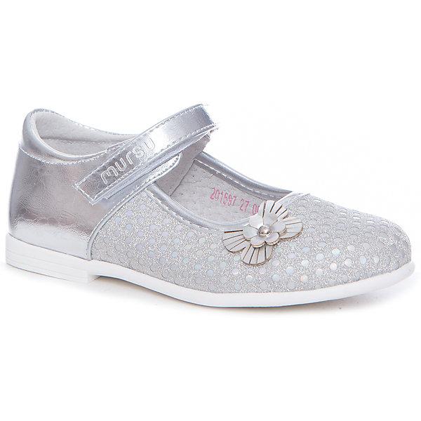 Купить Туфли Mursu для девочки, Китай, серебряный, 31, 30, 29, 28, 27, 32, Женский