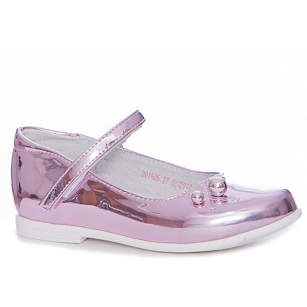 Туфли Mursu для девочкиНарядная обувь<br>Характеристики товара:<br><br>• цвет: розовый<br>• материал верха: искусственная кожа<br>• подклад: натуральная кожа<br>• стелька: натуральная кожа<br>• подошва: ТЭП<br>• сезон: круглый год<br>• особенности модели: нарядные, перламутровые<br>• застежка: липучка<br>• анатомические <br>• страна бренда: Финляндия<br>• страна изготовитель: Китай<br><br>Туфли для девочки Mursu - это отличный вариант обуви, которую можно использовать как сменную или надевать в торжественных случаях. Удобная застежка позволяет быстро надеть и снять обувь. <br><br>Качественные материалы обеспечивают комфортные условия для ног. Универсальный цвет подходит под любой наряд.<br>Обувь Мурсу - это качественная финская продукция, которая помогает детям выглядеть модно и чувствовать себя удобно.<br><br>Туфли для девочки Mursu можно купить в нашем интернет-магазине.<br>Ширина мм: 227; Глубина мм: 145; Высота мм: 124; Вес г: 325; Цвет: розовый; Возраст от месяцев: 36; Возраст до месяцев: 48; Пол: Женский; Возраст: Детский; Размер: 27,32,31,30,29,28; SKU: 6853288;