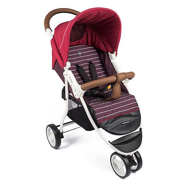 Прогулочная коляска Happy Baby Ultima на белой раме, бордовыйСезон весна-лето<br>ОПИСАНИЕ<br>Сдвоенное переднее колесо коляски ULTIMA обеспечит высокую надежность и максимальную устойчивость. Возможность переключения режима передних колес (фиксированный или поворотный) превращает коляску в настоящий внедорожник-вездеход. ULTIMA имеет просторное посадочное место, в котором не будет тесно даже крупным деткам. <br>При весе всего 7,9 кг коляска имеет амортизацию на передних и задних колесах, съемный бампер, регулируемую в 3 положениях подножку, большой капор со смотровым окном и прозрачной пленкой, пятиточечные ремни безопасности с мягкими накладками, удобную тормозную систему. ХАРАКТЕРИСТИКИ<br>Габариты в разложенном виде ДхШхВ: 93х59,5х102&amp;nbsp:см<br>Габариты в сложенном виде ДхШхВ: 89*59,5*36&amp;nbsp:см<br>Задние колеса оснащены тормозным механизмом<br>Амортизация передних и задних колес<br>Съемный бампер<br>В комплекте: дождевик, чехол на ножки, москитная сетка, корзина для покупок.<br>СОСТАВ<br>Рама: металл, пластик<br>Тканные материалы: 100 % полиэстер, кожзам<br>Колеса: пластиковые с покрытием EVA (этиленвинилацетат)<br>ИНСТРУКЦИЯ ПО УХОДУ<br>Шасси:<br>периодически очищайте пластмассовые детали влажной тряпкой, без использования растворителей и сходных веществ. Держите металлические части изделия сухими, чтобы предотвратить образование ржавчины. Поддерживайте чистоту всех движущихся деталей (регулировочные и соединительные детали, колеса и т. д.), удаляя пыль и песок. При необходимости смажьте их маслом.<br>Тканые материалы:<br>протирайте влажной губкой с мыльным раствором, не пользуйтесь моющими средствами. Не выкручивайте, не отбеливайте, не сушите в стиральной машине, не гладьте.<br>Не подвергайте коляску воздействию интенсивного солнечного излучения. Профессиональная чистка запрещена. После попадания под дождь или снег во избежание коррозии коляску необходимо просушить, а ступицы обработать смазкой. Хранить в сухом и прохладном помещении. При хранении на