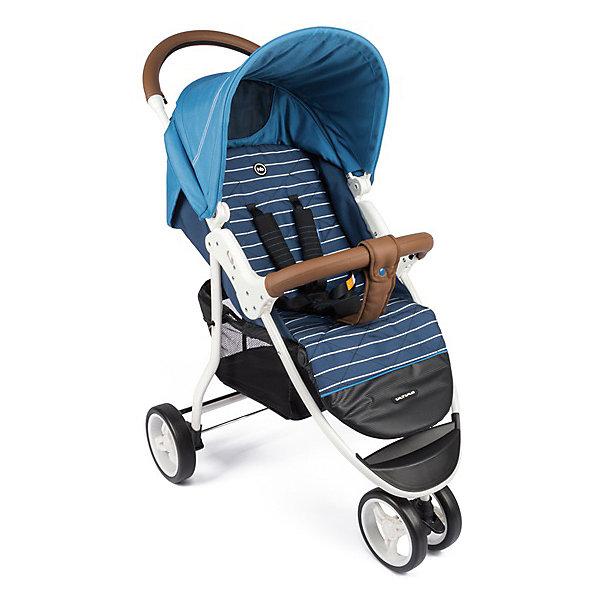 Прогулочная коляска Happy Baby Ultima на белой раме, голубойСезон весна-лето<br>ОПИСАНИЕ<br>Сдвоенное переднее колесо коляски ULTIMA обеспечит высокую надежность и максимальную устойчивость. Возможность переключения режима передних колес (фиксированный или поворотный) превращает коляску в настоящий внедорожник-вездеход. ULTIMA имеет просторное посадочное место, в котором не будет тесно даже крупным деткам. <br>При весе всего 7,9 кг коляска имеет амортизацию на передних и задних колесах, съемный бампер, регулируемую в 3 положениях подножку, большой капор со смотровым окном и прозрачной пленкой, пятиточечные ремни безопасности с мягкими накладками, удобную тормозную систему. ХАРАКТЕРИСТИКИ<br>Габариты в разложенном виде ДхШхВ: 93х59,5х102&amp;nbsp:см<br>Габариты в сложенном виде ДхШхВ: 89*59,5*36&amp;nbsp:см<br>Задние колеса оснащены тормозным механизмом<br>Амортизация передних и задних колес<br>Съемный бампер<br>В комплекте: дождевик, чехол на ножки, москитная сетка, корзина для покупок.<br>СОСТАВ<br>Рама: металл, пластик<br>Тканные материалы: 100 % полиэстер, кожзам<br>Колеса: пластиковые с покрытием EVA (этиленвинилацетат)<br>ИНСТРУКЦИЯ ПО УХОДУ<br>Шасси:<br>периодически очищайте пластмассовые детали влажной тряпкой, без использования растворителей и сходных веществ. Держите металлические части изделия сухими, чтобы предотвратить образование ржавчины. Поддерживайте чистоту всех движущихся деталей (регулировочные и соединительные детали, колеса и т. д.), удаляя пыль и песок. При необходимости смажьте их маслом.<br>Тканые материалы:<br>протирайте влажной губкой с мыльным раствором, не пользуйтесь моющими средствами. Не выкручивайте, не отбеливайте, не сушите в стиральной машине, не гладьте.<br>Не подвергайте коляску воздействию интенсивного солнечного излучения. Профессиональная чистка запрещена. После попадания под дождь или снег во избежание коррозии коляску необходимо просушить, а ступицы обработать смазкой. Хранить в сухом и прохладном помещении. При хранении на 