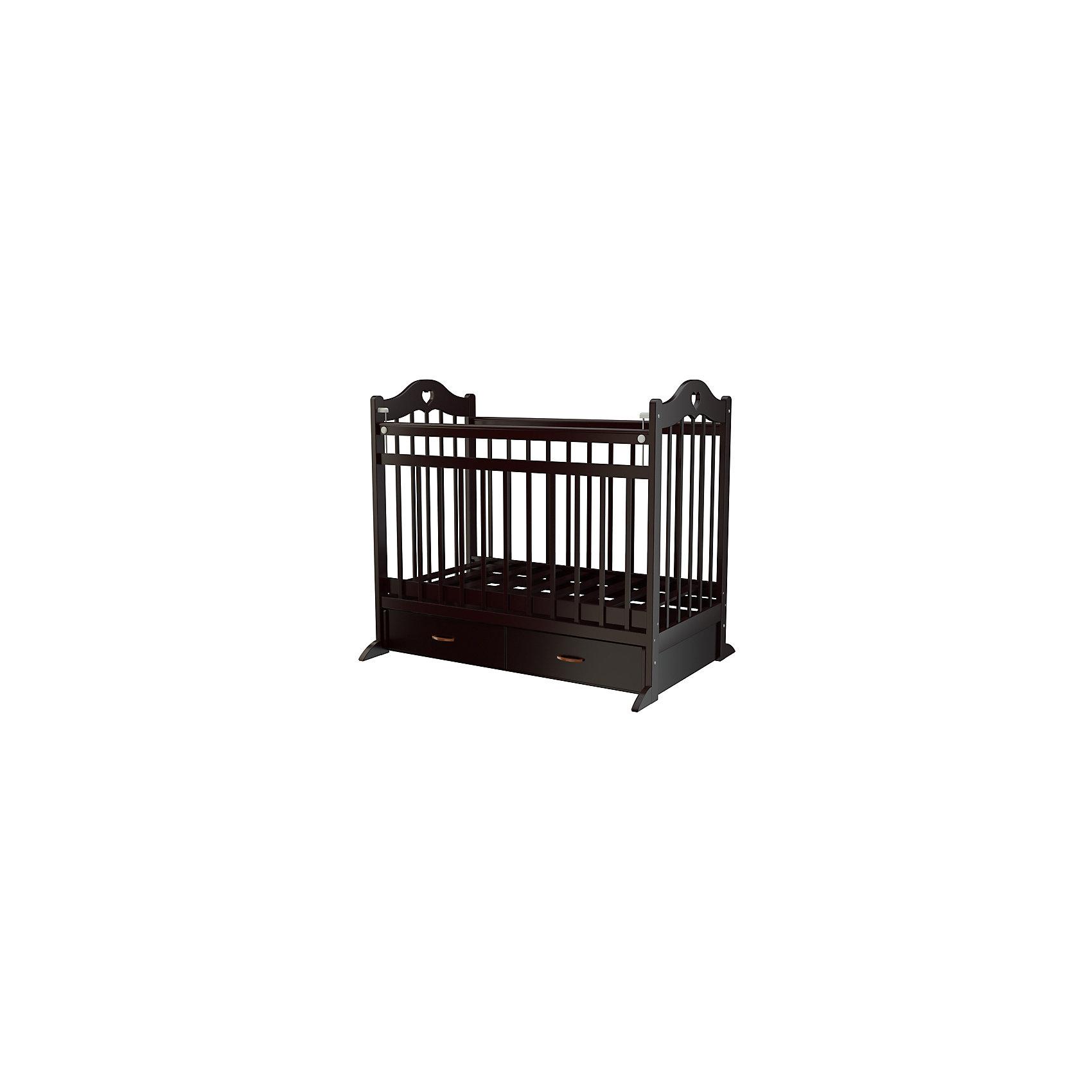 Кроватка 12, Briciola, темныйКроватки<br>Детская кроватка Briciola-12 является новинкой этого года. Итальянский бренд создал красивую и функциональную конструкцию, которая позволяет подарить ребенку комфорт и безопасность и при этом достойно украсить интерьер детской комнаты.<br><br>Ширина мм: 1240<br>Глубина мм: 800<br>Высота мм: 170<br>Вес г: 35000<br>Возраст от месяцев: 0<br>Возраст до месяцев: 36<br>Пол: Унисекс<br>Возраст: Детский<br>SKU: 6856009