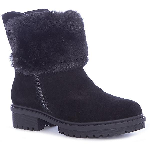 Сапоги для девочки BetsyСапоги<br>Характеристики товара:<br><br>• цвет: черный<br>• материал верха: натуральная замша<br>• подкладка: натуральная шерсть<br>• стелька: натуральная шерсть<br>• подошва: ТПР<br>• сезон: зима<br>• температурный режим: от +5 до -15<br>• застежка: молния<br>• подошва не скользит<br>• анатомические <br>• страна бренда: Великобритания<br>• страна изготовитель: Китай<br><br>Сапоги для девочки Betsy согреют ножки холоными зимними прогулками. Рефленая подошва предотвращает скольжение.<br><br>Обувь от популярного великобританского бренда Betsy отличается неизменно высоким качеством и следованием новым веяниям в моде. Бренд представляет широкую линейку стильной и удобной обуви для детей. <br> <br>Сапоги для девочки Betsy можно купить в нашем интернет-магазине.<br><br>Ширина мм: 257<br>Глубина мм: 180<br>Высота мм: 130<br>Вес г: 420<br>Цвет: черный<br>Возраст от месяцев: 108<br>Возраст до месяцев: 120<br>Пол: Женский<br>Возраст: Детский<br>Размер: 33,38,37,36,35,34<br>SKU: 6857952
