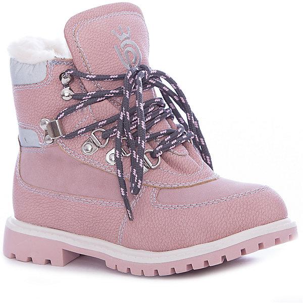 Ботинки для девочки Betsy PrincessБотинки<br>Характеристики товара:<br><br>• цвет: розовый<br>• материал верха: искусственная кожа<br>• подкладка: натуральная шерсть<br>• стелька: натуральная шерсть<br>• подошва: ТПР<br>• сезон: зима<br>• температурный режим: от 0 до -15<br>• застежка: шнуровка<br>• подошва не скользит<br>• анатомические <br>• страна бренда: Великобритания<br>• страна изготовитель: Китай<br><br>Ботинки для девочки Betsy Princess нежного розового цвета согреют ножки во время холодных зимних прогулок. <br><br>Обувь от популярного бренда Betsy Princess отличается неизменно высоким качеством и следованием новым веяниям в моде. Бренд представляет широкую линейку стильной и удобной обуви для детей. <br> <br>Ботинки для девочки Betsy Princess можно купить в нашем интернет-магазине.<br><br>Ширина мм: 262<br>Глубина мм: 176<br>Высота мм: 97<br>Вес г: 427<br>Цвет: розовый<br>Возраст от месяцев: 24<br>Возраст до месяцев: 24<br>Пол: Женский<br>Возраст: Детский<br>Размер: 25,30,29,28,27,26<br>SKU: 6858071
