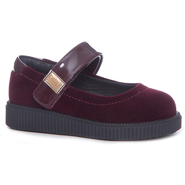 Туфли для девочки Betsy PrincessНарядная обувь<br>Характеристики товара:<br><br>• цвет: черный<br>• материал верха: искусственная кожа<br>• подкладка: натуральная кожа<br>• стелька: натуральная кожа<br>• подошва: ТЭП<br>• сезон: круглый год<br>• особенности модели: школьные<br>• застежка: липучка<br>• анатомические <br>• страна бренда: Великобритания<br>• страна изготовитель: Китай<br><br>Эти туфли для девочки Betsy Princess универсальны: их можно использовать как сменную обувь или надевать в торжественных случаях. Туфли полностью соответствуют школьному дресс-коду благодаря классическому дизайну и базовому цвету. Удобная форма позволяет быстро надеть и снять их.<br>Обувь от популярного великобританского бренда Betsy Princess отличается неизменно высоким качеством и следованием новым веяниям в моде. Бренд представляет широкую линейку стильной и удобной обуви для детей. <br> <br>Туфли для девочки Betsy Princess можно купить в нашем интернет-магазине.<br>Ширина мм: 227; Глубина мм: 145; Высота мм: 124; Вес г: 325; Цвет: бордовый; Возраст от месяцев: 72; Возраст до месяцев: 84; Пол: Женский; Возраст: Детский; Размер: 30,25,29,28,27,26; SKU: 6858092;