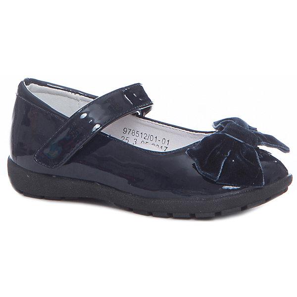 Туфли для девочки Betsy PrincessНарядная обувь<br>Характеристики товара:<br><br>• цвет: синий<br>• материал верха: искусственная кожа<br>• подкладка: натуральная кожа<br>• стелька: натуральная кожа<br>• подошва: ТЭП<br>• сезон: круглый год<br>• особенности модели: школьные, лакированные<br>• застежка: липучка<br>• анатомические <br>• страна бренда: Великобритания<br>• страна изготовитель: Китай<br><br>Эти туфли для девочки Betsy Princess универсальны: их можно использовать как сменную обувь или надевать в торжественных случаях. Туфли полностью соответствуют школьному дресс-коду.<br><br>Обувь от популярного великобританского бренда Betsy Princess отличается неизменно высоким качеством и следованием новым веяниям в моде. Бренд представляет широкую линейку стильной и удобной обуви для детей. <br> <br>Туфли для девочки Betsy Princess можно купить в нашем интернет-магазине.<br>Ширина мм: 227; Глубина мм: 145; Высота мм: 124; Вес г: 325; Цвет: синий; Возраст от месяцев: 24; Возраст до месяцев: 24; Пол: Женский; Возраст: Детский; Размер: 25,30,29,28,27,26; SKU: 6858099;