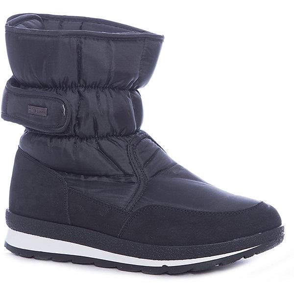 Дутики KEDDO для девочкиСапоги<br>Характеристики товара:<br><br>• цвет: черный<br>• материал верха: текстиль<br>• подкладка: натуральная шерсть<br>• стелька: натуральная шерсть<br>• подошва: ТЭП<br>• сезон: зима<br>• температурный режим: от +5 до -15<br>• застежка: липучка<br>• подошва не скользит<br>• анатомические <br>• страна бренда: Великобритания<br>• страна изготовитель: Китай<br><br>Сапоги для девочки KEDDO помогут обеспечить ногам тепло в холодную погоду. Они модно смотрятся благодаря стильному дизайну и всегда актуальному цвету. <br><br>Обувь от популярного великобританского бренда KEDDO отличается неизменно высоким качеством и следованием новым веяниям в моде. Бренд представляет широкую линейку стильной и удобной обуви для детей. <br> <br>Сапоги для девочки KEDDO можно купить в нашем интернет-магазине.<br>Ширина мм: 257; Глубина мм: 180; Высота мм: 130; Вес г: 420; Цвет: черный; Возраст от месяцев: 156; Возраст до месяцев: 1188; Пол: Женский; Возраст: Детский; Размер: 38,33,34,35,36,37; SKU: 6858600;