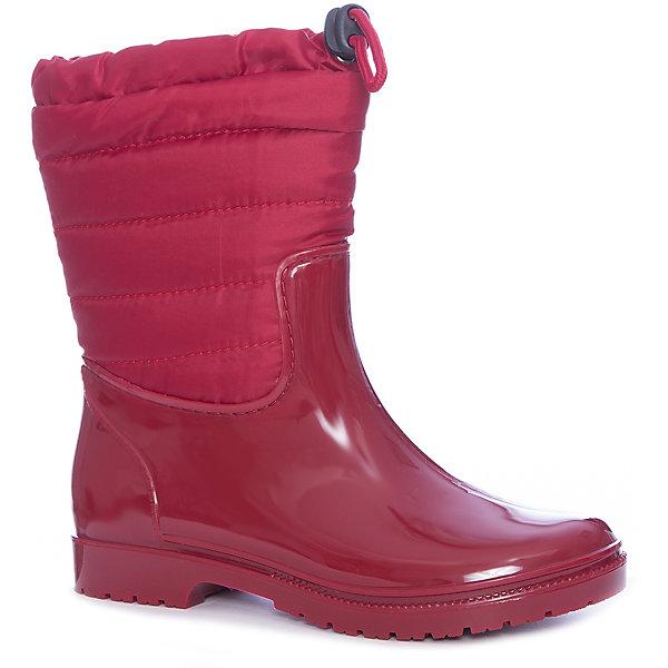 Сноубутсы KEDDO для девочкиСноубутсы<br>Характеристики товара:<br><br>• цвет: красный<br>• материал верха: ПВХ<br>• подкладка: текстиль<br>• стелька: текстиль<br>• подошва: ПВХ<br>• сезон: демисезон<br>• температурный режим: от +5 до +20<br>• сапожок не вынимается<br>• застежка: утяжка<br>• подошва не скользит<br>• непромокаемые<br>• анатомические <br>• страна бренда: Финляндия<br>• страна изготовитель: Китай<br><br>Резиновые сапоги KEDDO - удобная и надежная демисезонная обувь. Их голенище помогает предотвратить промокание ног. <br><br>Благодаря теплой подкладке резиновые сапоги позволяют сохранить ноги в тепле и обеспечить им комфортный микроклимат.<br><br>Обувь от популярного великобританского бренда KEDDO отличается неизменно высоким качеством и следованием новым веяниям в моде. Бренд представляет широкую линейку стильной и удобной обуви для детей. <br><br>Сапоги для девочки KEDDO можно купить в нашем интернет-магазине.<br>Ширина мм: 257; Глубина мм: 180; Высота мм: 130; Вес г: 420; Цвет: красный; Возраст от месяцев: 120; Возраст до месяцев: 132; Пол: Женский; Возраст: Детский; Размер: 34,33,38,37,36,35; SKU: 6858717;
