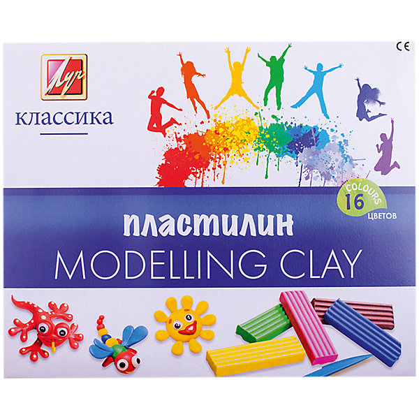 Луч Пластилин 16 цветовРисование и лепка<br>Характеристики:<br><br>• возраст: от 3 лет<br>• в наборе: 16 цветов (брусков) пластилина, стек<br>• вес одного бруска пластилина: 20 гр.<br>• общая масса пластилина: 320 гр.<br>• упаковка: картонная коробка<br>• размер упаковки: 16,3х19,6х1,7 см.<br>• вес: 376 гр.<br><br>Пластилин «Классика» предназначен для лепки и моделирования.<br><br>Пластилин легко лепится и не прилипает к рукам, пластичен, идеально держит форму, обладает яркими цветами, которые легко смешиваются друг с другом. <br><br>Пластилин изготовлен из высококачественных компонентов. Соответствует европейским директивам безопасности (на продукции стоит знак СЕ), нетоксичен.<br><br>Пластилин КЛАССИКА 16 цветов 320 гр. со стеком Луч можно купить в нашем интернет-магазине.<br><br>Ширина мм: 150<br>Глубина мм: 100<br>Высота мм: 20<br>Вес г: 320<br>Возраст от месяцев: 36<br>Возраст до месяцев: 168<br>Пол: Унисекс<br>Возраст: Детский<br>SKU: 6858984