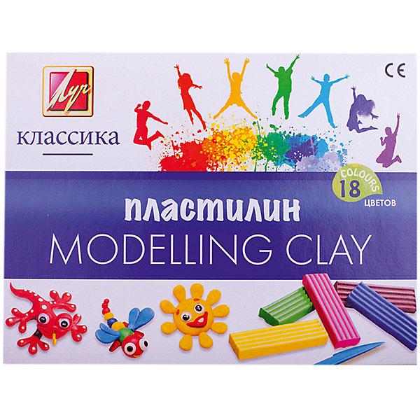 Луч Пластилин 12 цветовРисование и лепка<br>Характеристики:<br><br>• возраст: от 3 лет<br>• в наборе: 18 цветов (брусков) пластилина, стек (длина 13 см.)<br>• цвета: желтый; белый; бежевый; оранжевый; розовый; красный; малиновый; сиреневый; бирюзовый; фиолетовый; салатовый; зеленый; голубой; синий; коричневый; красно-коричневый; серый; черный.<br>• вес одного бруска пластилина: 20 гр.<br>• размер бруска пластилина: 2,3х7,2х1 см.<br>• общая масса пластилина: 360 гр.<br>• упаковка: картонная коробка<br>• размер упаковки: 23х17х2 см.<br>• вес: 435 гр.<br><br>Пластилин «Классика» предназначен для лепки и моделирования.<br><br>Пластилин легко лепится и не прилипает к рукам, пластичен, идеально держит форму, обладает яркими цветами, которые легко смешиваются друг с другом. <br><br>Пластилин изготовлен из высококачественных компонентов. Соответствует европейским директивам безопасности (на продукции стоит знак СЕ), нетоксичен.<br><br>Пластилин КЛАССИКА 18 цветов 360 гр. со стеком Луч можно купить в нашем интернет-магазине.<br>Ширина мм: 150; Глубина мм: 150; Высота мм: 20; Вес г: 240; Возраст от месяцев: 36; Возраст до месяцев: 168; Пол: Унисекс; Возраст: Детский; SKU: 6858987;