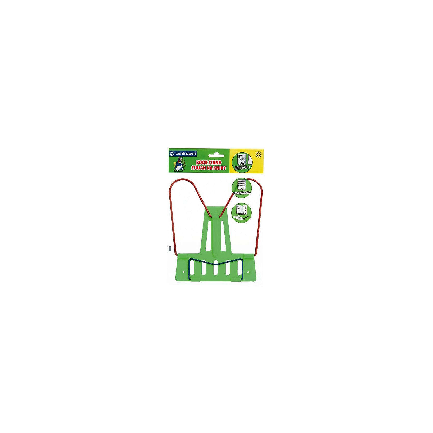 CENTROPEN Подставка для книгШкольные аксессуары<br>Характеристики товара:<br><br>• размер подставки: 8,59х17х15,5 см;<br>• материал: пластик, металл;<br>• цвет: зеленый;<br>• возраст: от 6 лет;<br>• размер упаковки: 3х16х16 см;<br>• вес: 116 грамм.<br><br>Подставка для книг - необходимый помощник в учебе. С ее помощью ребенок сможет удобно расположить книгу, чтобы руки были свободны для письменных заданий. Подставка имеет несколько углов наклона. Основание подставки изготовлено из пластика, а поддерживающая часть - из металла. <br><br>CENTROPEN (Центропен) Подставку для книг можно купить в нашем интернет-магазине.<br><br>Ширина мм: 160<br>Глубина мм: 160<br>Высота мм: 30<br>Вес г: 116<br>Возраст от месяцев: 36<br>Возраст до месяцев: 120<br>Пол: Унисекс<br>Возраст: Детский<br>SKU: 6858993