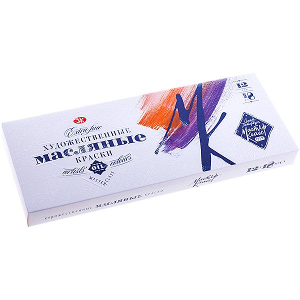 Краски масляные 12 цветов Мастер-Класс, 18мл/тубаХудожественные краски<br>Характеристики:<br><br>• ёмкость тюбика:18мл.;<br>• количество: 12шт.; <br>• упаковка: коробка;<br>• размер упаковки: 26х11х3см.;<br>• вес упаковки: 500г.;<br>• для детей в возрасте: от 7лет.;<br>• страна производитель: Россия.<br><br>Набор масляных красок «Мастер-Класс» бренда «Невская палитра» станет отличным приобретением для маленьких художников. Он создан из качественных, экологически чистых материалов, что очень важно для детских товаров.<br><br> Набор отлично подойдёт для ребят, занимающихся живописью. В него входят двенадцать разноцветных тюбиков с красками. Цвета очень яркие и насыщенные. Без лишних усилий создают плотный яркий слой на любой поверхности. Хорошо смешиваются и не меняют цвет со временем. Упаковкой служит коробка с красивым рисунком.<br><br>Использование набора поможет детям развивать цветовое восприятие, мелкую моторику, чувство самовыражения, фантазию и аккуратность.<br> <br>Краски масляные « Мастер-Класс» можно купить в нашем интернет-магазине.<br>Ширина мм: 257; Глубина мм: 108; Высота мм: 28; Вес г: 502; Возраст от месяцев: 36; Возраст до месяцев: 168; Пол: Унисекс; Возраст: Детский; SKU: 6859005;