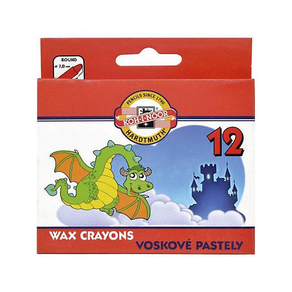KOH-I-NOOR Мелки восковые 12 цветовМасляные и восковые мелки<br>Характеристики товара:<br><br>• в комплекте: 12 мелков;<br>• диаметр мелка: 8,5 мм;<br>• длина мелка: 8,5 см;<br>• размер упаковки: 3,7х12х16,3 см;<br>• вес: 61 грамм;<br>• возраст: от 3 лет.<br><br>Восковые мелки KOH-I-NOOR подходят для выполнения рисунков, поделок и других видов детского творчества. Мелки имеют насыщенные цвета, которые мягко ложатся на поверхность и не выцветают. <br><br>Каждый мелок находится в отдельной обертке, благодаря чему они не скользят и не пачкают одежду и руки ребенка. Мелки не требуют заточки.<br><br>KOH-I-NOOR (Кохинор) Мелки восковые 12 цветов можно купить в нашем интернет-магазине.<br><br>Ширина мм: 163<br>Глубина мм: 120<br>Высота мм: 37<br>Вес г: 61<br>Возраст от месяцев: 36<br>Возраст до месяцев: 168<br>Пол: Унисекс<br>Возраст: Детский<br>SKU: 6859007