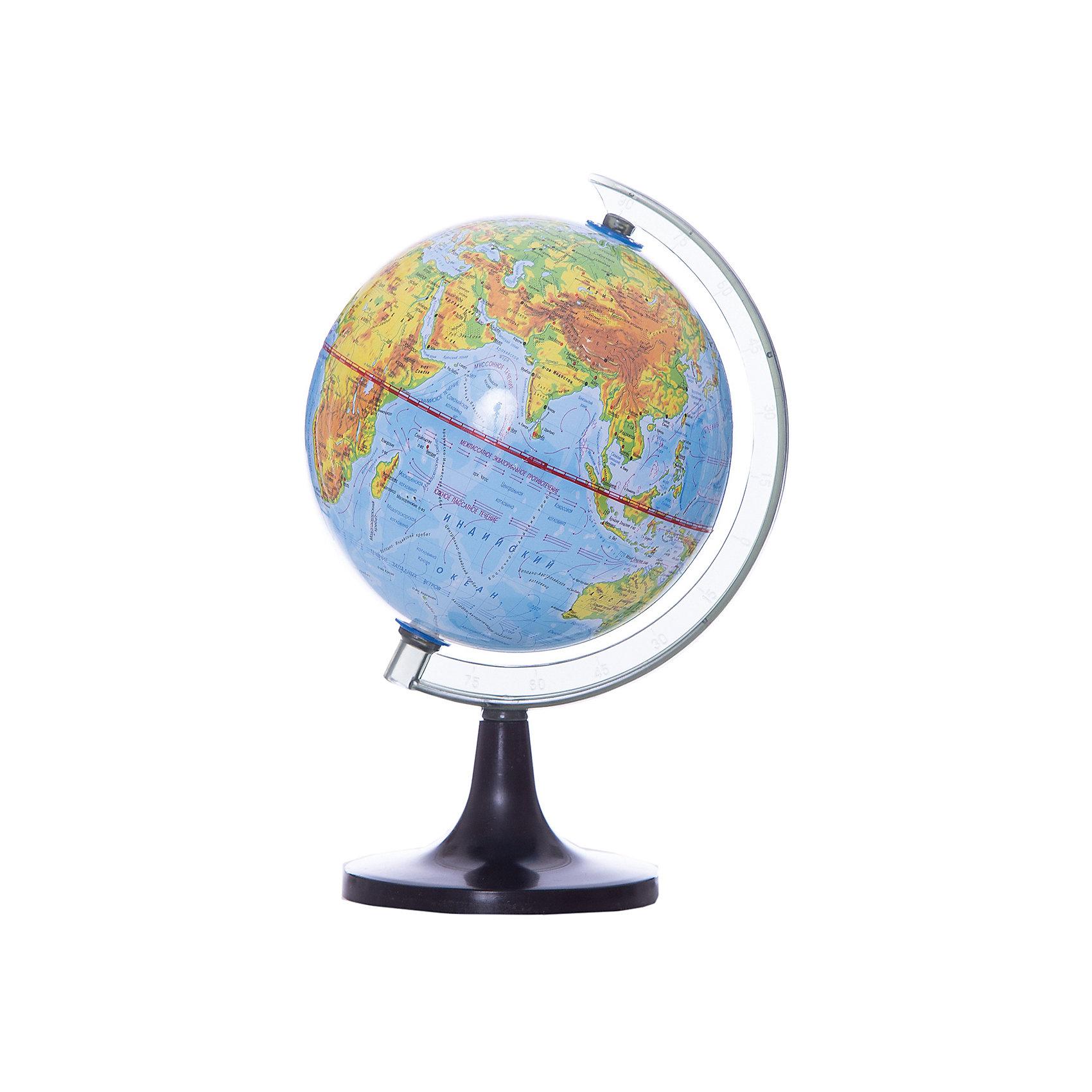 ROTONDO Глобус физический, 14,2смГлобусы<br>Характеристики товара:<br><br>• тип карты: физическая;<br>• диаметр глобуса: 14,2 см;<br>• масштаб: 1: 90000000;<br>• материал: пластик;<br>• размер упаковки: 14,2х14,2х14,2 см;<br>• вес: 244 грамма;<br>• возраст: от 3 лет.<br><br>Глобус от Rotondo познакомит ребенка с физическая картой мира. Глобус оформлен ярким и четким изображением. С помощью пластиковой ручки ребенок сможет удобно вращать глобус, чтобы рассмотреть все необходимые элементы.<br><br>На глобусе нанесены линии картографической сетки, рельеф суши и водного пространства, теплые и холодные течения, крупные населенные пункты, гидрографическая сеть и элементы почвенно-растительного покрова.<br><br>ROTONDO (Ротондо) Глобус физический, 14,2см можно купить в нашем интернет-магазине.<br><br>Ширина мм: 142<br>Глубина мм: 142<br>Высота мм: 142<br>Вес г: 244<br>Возраст от месяцев: 36<br>Возраст до месяцев: 168<br>Пол: Унисекс<br>Возраст: Детский<br>SKU: 6859023