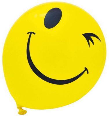 ACTION! Воздушные шары Смайлы , одноцветный рисунок, 30см, 20 шт