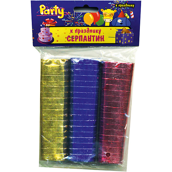Набор серпантина к празднику, фольгированный, 3 шт, 0,7*300 смАксессуары для детского праздника<br>Характеристики:<br><br>• возраст: от 3 лет<br>• в наборе: серпантин 3 цветов<br>• размер: 0,7х300 см.<br>• материал: фольгированная бумага<br><br>Фольгированный серпантин выглядит очень нарядно. Разноцветные узкие бумажные ленты, свернутые в рулончики можно бросать в публику во время праздников, балов и маскарадов, либо развешивать в местах проведения торжеств.<br><br>Набор серпантина к празднику, фольгированного, 3 шт, 0,7*300 см можно купить в нашем интернет-магазине.<br>Ширина мм: 100; Глубина мм: 30; Высота мм: 30; Вес г: 109; Возраст от месяцев: 36; Возраст до месяцев: 2147483647; Пол: Унисекс; Возраст: Детский; SKU: 6860595;