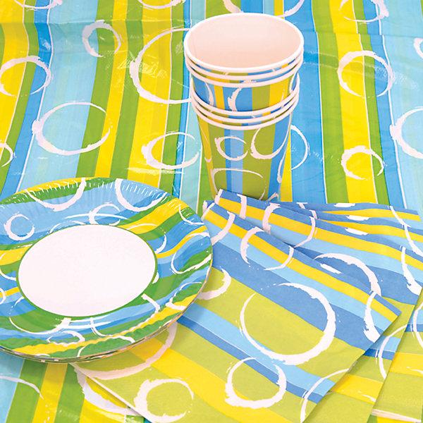 Набор для праздника Радость, 130см*180 смДетские наборы одноразовой посуды<br>Характеристики:<br><br>• возраст: от 3 лет<br>• в наборе: 6 тарелок, 6 стаканов, 6 салфеток, скатерть<br>• диаметр тарелок: 22 см.<br>• объем стаканов: 250 мл.<br>• размер скатерти: 130х80 см.<br>• материал: полимерный материал, бумага, картон<br><br>Набор для праздника «Радость» на 6 персон включает все необходимое для сервировки стола к детскому празднику: скатерть из полимерного материала, бумажные салфетки и одноразовую посуду (стаканы и тарелки) из плотного картона. Все предметы украшены ярким веселым орнаментом.<br><br>Предметы набора выполнены из экологичных безопасных материалов.<br><br>Набор для праздника Радость, 130см*180 см можно купить в нашем интернет-магазине.<br><br>Ширина мм: 300<br>Глубина мм: 300<br>Высота мм: 100<br>Вес г: 169<br>Возраст от месяцев: 36<br>Возраст до месяцев: 2147483647<br>Пол: Унисекс<br>Возраст: Детский<br>SKU: 6860599