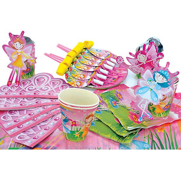Набор для праздника Феи радуги, 130см*180смДетские наборы одноразовой посуды<br>Характеристики:<br><br>• возраст: от 3 лет<br>• в наборе: 6 тарелок, 6 стаканов, 6 салфеток, скатерть, 6 корон, 6 язычков, 6 коктейльных трубочек, 3 подвески<br>• диаметр тарелок: 22 см.<br>• объем стаканов: 250 мл.<br>• размер скатерти: 130х80 см.<br>• материал: полимерный материал, бумага, картон<br><br>Набор для праздника «Феи радуги» на 6 персон поможет организовать вечеринку. Набор включает все необходимое для сервировки стола: скатерть из полимерного материала, бумажные салфетки и одноразовую посуду (стаканы и тарелки) из плотного картона, коктейльные трубочки, а для веселых конкурсов и игр язычки, подвески и короны.<br><br>Предметы набора выполнены из экологичных безопасных материалов.<br><br>Набор для праздника Феи радуги, 130см*180см можно купить в нашем интернет-магазине.<br><br>Ширина мм: 300<br>Глубина мм: 300<br>Высота мм: 100<br>Вес г: 306<br>Возраст от месяцев: 36<br>Возраст до месяцев: 2147483647<br>Пол: Женский<br>Возраст: Детский<br>SKU: 6860603