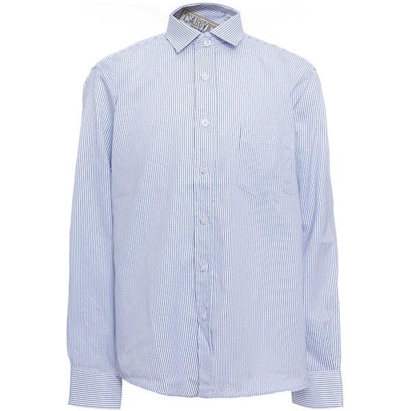 Рубашка для мальчика TsarevichБлузки и рубашки<br>Характеристики товара:<br><br>• цвет: голубой<br>• состав ткани: 65% хлопок, 35% полиэстер<br>• особенности: школьная, праздничная<br>• застежка: пуговицы<br>• рукава: длинные<br>• сезон: круглый год<br>• страна бренда: Российская Федерация<br>• страна изготовитель: Китай<br><br>Классическая сорочка для мальчика - отличный вариант практичной и стильной школьной одежды.<br><br>Классическая форма, накладной карман, воротник с отсрочкой, свободный крой, дышащая ткань с преобладанием хлопка - красиво и удобно.<br><br>Рубашку для мальчика Tsarevich (Царевич) можно купить в нашем интернет-магазине.<br><br>Ширина мм: 174<br>Глубина мм: 10<br>Высота мм: 169<br>Вес г: 157<br>Цвет: голубой<br>Возраст от месяцев: 156<br>Возраст до месяцев: 168<br>Пол: Мужской<br>Возраст: Детский<br>Размер: 164/170,122/128,128/134,134/140,140/146,146/152,146/152,152/158,152/158,158/164<br>SKU: 6860633