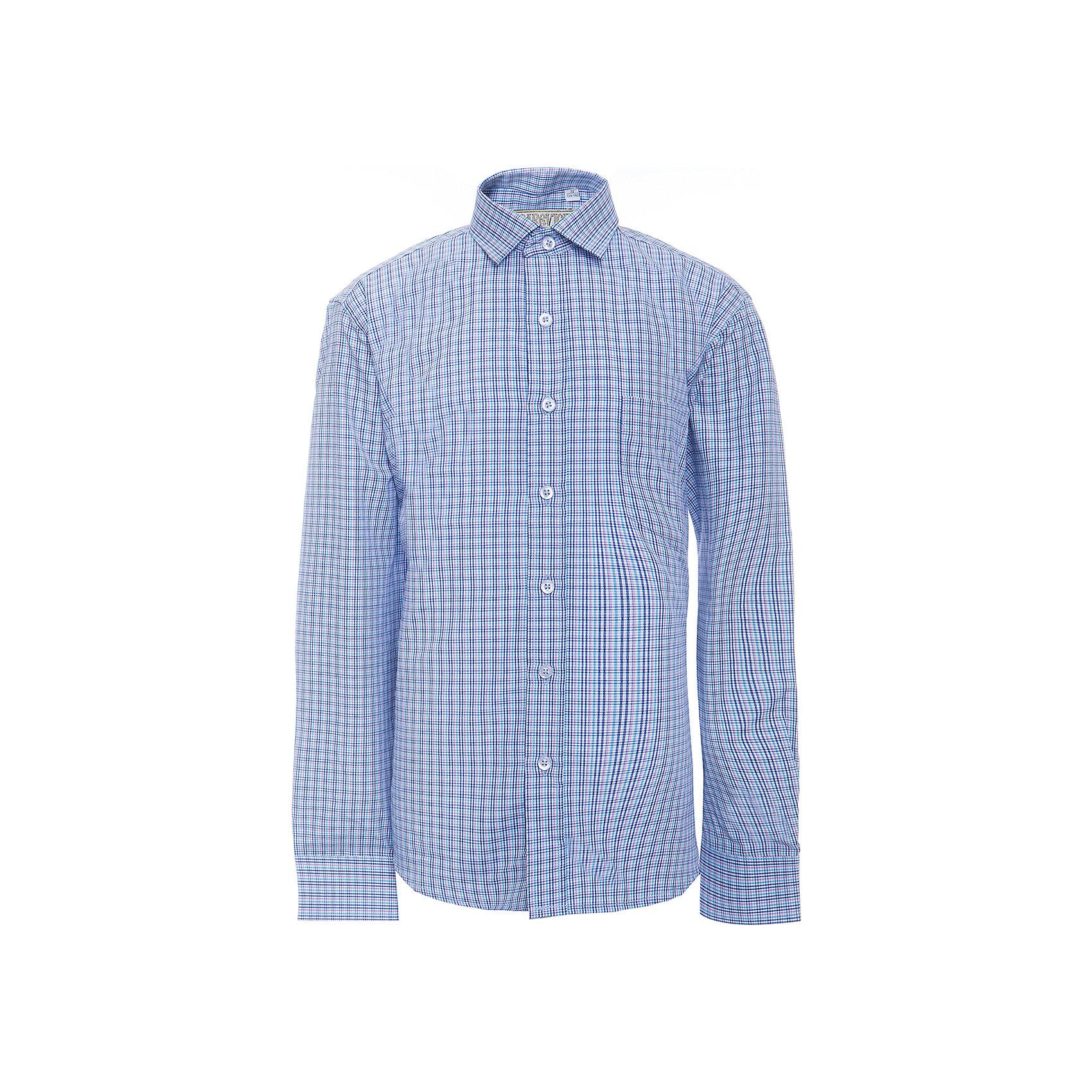 Рубашка для мальчика TsarevichБлузки и рубашки<br>Характеристики товара:<br><br>• цвет: голубой<br>• состав ткани: 65% хлопок, 35% полиэстер<br>• особенности: школьная, праздничная<br>• застежка: пуговицы<br>• рукава: длинные<br>• сезон: круглый год<br>• страна бренда: Российская Федерация<br>• страна изготовитель: Китай<br><br>Сорочка классического кроя для мальчика - отличный вариант практичной и стильной школьной одежды.<br><br>Классическая форма, накладной карман, воротник с отсрочкой, свободный крой, дышащая ткань с преобладанием хлопка - красиво и удобно.<br><br>Рубашку для мальчика Tsarevich (Царевич) можно купить в нашем интернет-магазине.<br><br>Ширина мм: 174<br>Глубина мм: 10<br>Высота мм: 169<br>Вес г: 157<br>Цвет: голубой<br>Возраст от месяцев: 156<br>Возраст до месяцев: 168<br>Пол: Мужской<br>Возраст: Детский<br>Размер: 164/170,122/128,128/134,134/140,140/146,146/152,146/152,152/158,152/158,158/164<br>SKU: 6860644