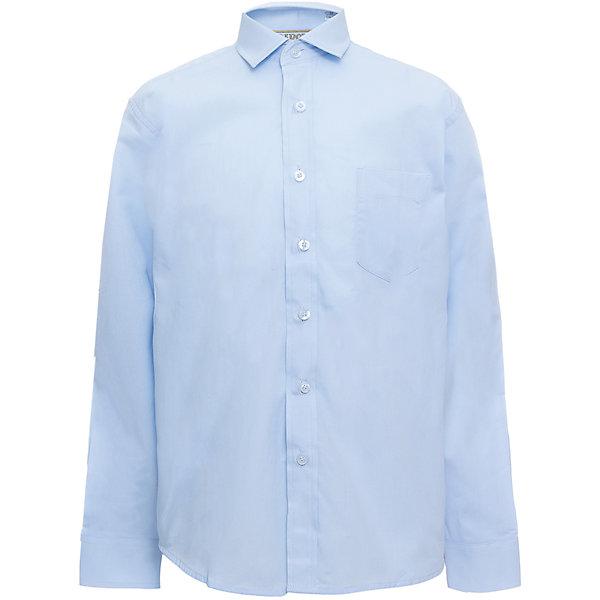 Рубашка для мальчика TsarevichБлузки и рубашки<br>Характеристики товара:<br><br>• цвет: голубой<br>• состав ткани: 80% хлопок, 20% полиэстер<br>• особенности: школьная, праздничная<br>• застежка: пуговицы<br>• рукава: длинные<br>• сезон: круглый год<br>• страна бренда: Российская Федерация<br>• страна изготовитель: Китай<br><br>Классическая сорочка для мальчика - отличный вариант практичной и стильной школьной одежды.<br><br>Классическая форма, накладной карман, воротник с отсрочкой, свободный крой, дышащая ткань с преобладанием хлопка - красиво и удобно.<br><br>Рубашку для мальчика Tsarevich (Царевич) можно купить в нашем интернет-магазине.<br>Ширина мм: 174; Глубина мм: 10; Высота мм: 169; Вес г: 157; Цвет: голубой; Возраст от месяцев: 72; Возраст до месяцев: 84; Пол: Мужской; Возраст: Детский; Размер: 158/164,152/158,152/158,146/152,146/152,140/146,122/128,164/170,134/140,128/134; SKU: 6860655;