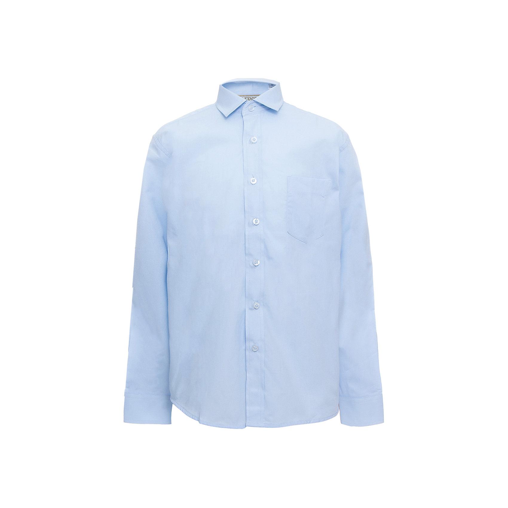 Рубашка для мальчика TsarevichБлузки и рубашки<br>Характеристики товара:<br><br>• цвет: голубой<br>• состав ткани: 80% хлопок, 20% полиэстер<br>• особенности: школьная, праздничная<br>• застежка: пуговицы<br>• рукава: длинные<br>• сезон: круглый год<br>• страна бренда: Российская Федерация<br>• страна изготовитель: Китай<br><br>Классическая сорочка для мальчика - отличный вариант практичной и стильной школьной одежды.<br><br>Классическая форма, накладной карман, воротник с отсрочкой, свободный крой, дышащая ткань с преобладанием хлопка - красиво и удобно.<br><br>Рубашку для мальчика Tsarevich (Царевич) можно купить в нашем интернет-магазине.<br><br>Ширина мм: 174<br>Глубина мм: 10<br>Высота мм: 169<br>Вес г: 157<br>Цвет: голубой<br>Возраст от месяцев: 72<br>Возраст до месяцев: 84<br>Пол: Мужской<br>Возраст: Детский<br>Размер: 122/128,164/170,128/134,134/140,140/146,146/152,146/152,152/158,152/158,158/164<br>SKU: 6860655