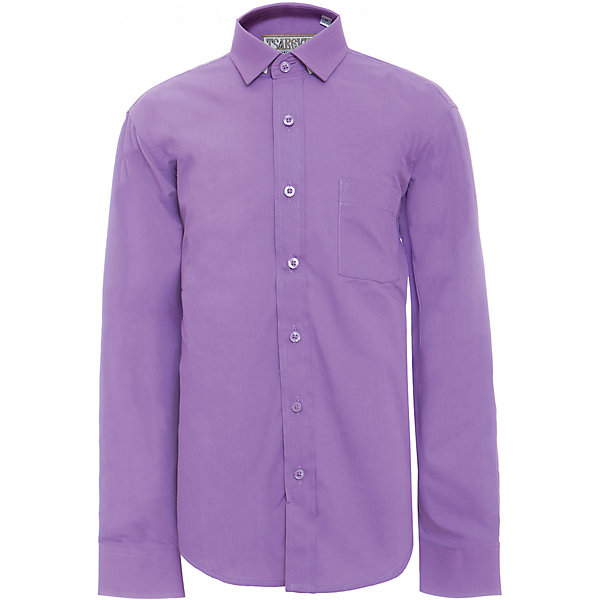 Рубашка для мальчика TsarevichБлузки и рубашки<br>Характеристики товара:<br><br>• цвет: фиолетовый<br>• состав ткани: 80% хлопок, 20% полиэстер<br>• особенности: школьная, праздничная<br>• застежка: пуговицы<br>• рукава: длинные<br>• сезон: круглый год<br>• страна бренда: Российская Федерация<br>• страна изготовитель: Китай<br><br>Сорочка классического кроя для мальчика - отличный вариант практичной и стильной школьной одежды.<br><br>Классическая форма, накладной карман, воротник с отсрочкой, свободный крой, дышащая ткань с преобладанием хлопка - красиво и удобно.<br><br>Рубашку для мальчика Tsarevich (Царевич) можно купить в нашем интернет-магазине.<br>Ширина мм: 174; Глубина мм: 10; Высота мм: 169; Вес г: 157; Цвет: лиловый; Возраст от месяцев: 132; Возраст до месяцев: 144; Пол: Мужской; Возраст: Детский; Размер: 152/158,152/158,146/152,146/152,140/146,134/140,128/134,122/128,164/170,158/164; SKU: 6860666;